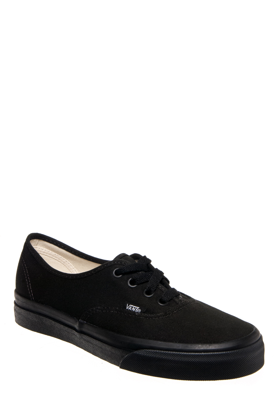 Vans Unisex Authentic Low Top Sneakers - Black / Black
