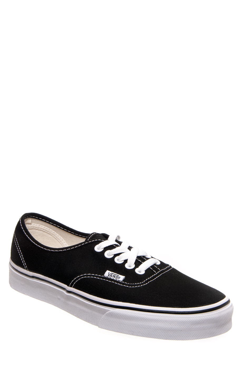Vans Unisex Authentic Sneakers - Black / White