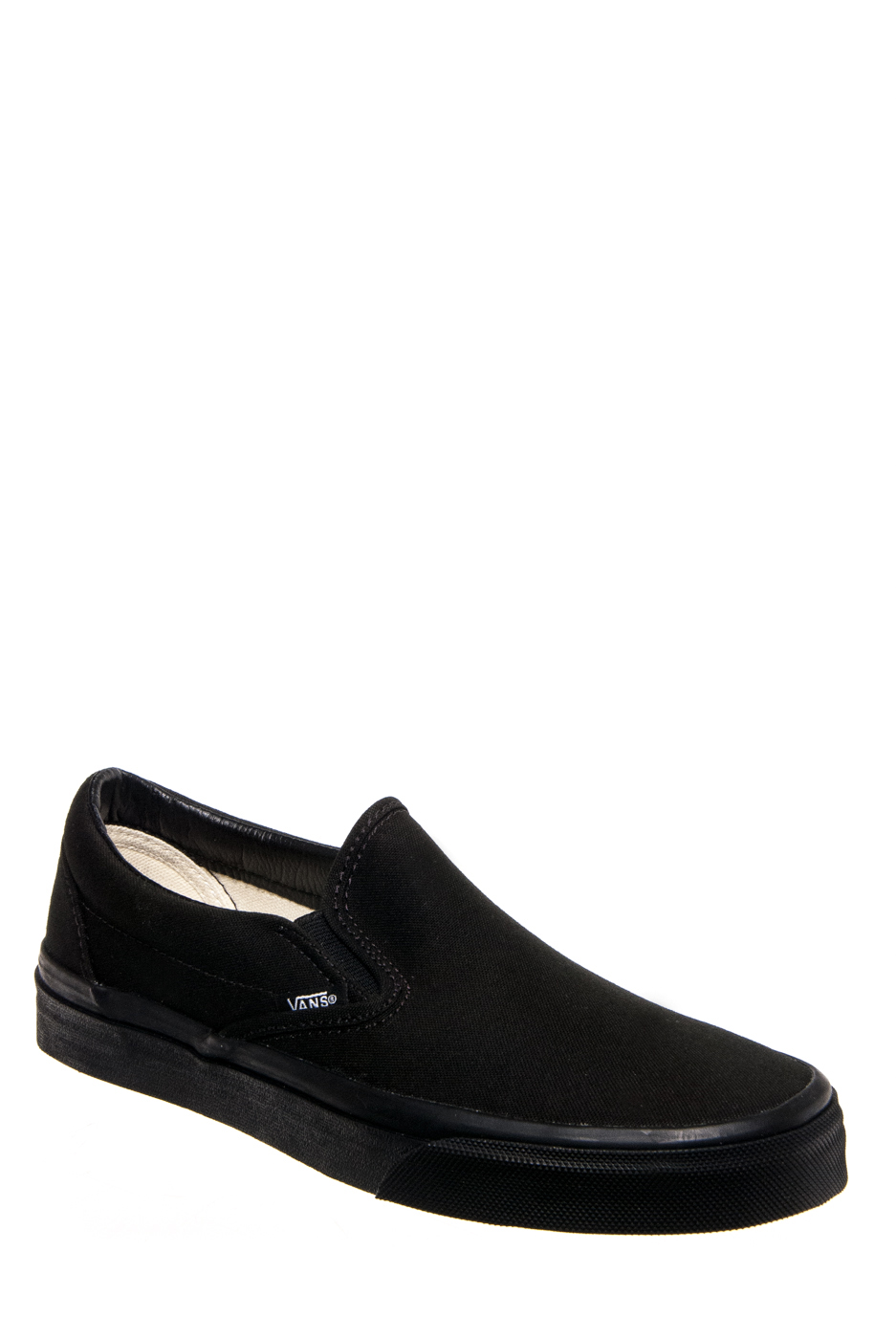 VANS Unisex Classic Slip On Sneakers - Black / Black