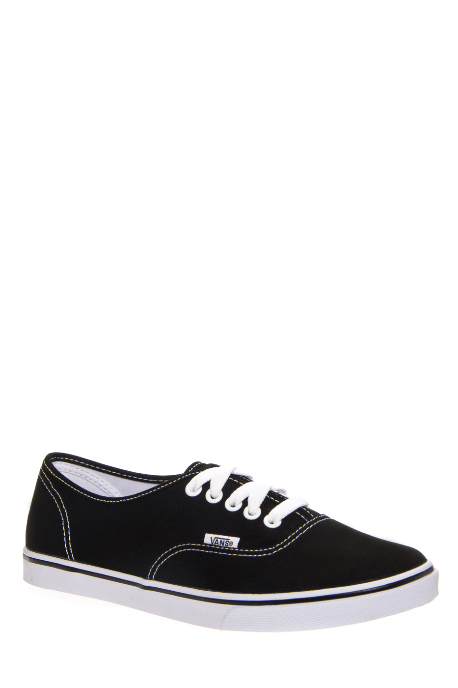 VANS Unisex Authentic Lo Pro Sneakers - Black / True Whiter