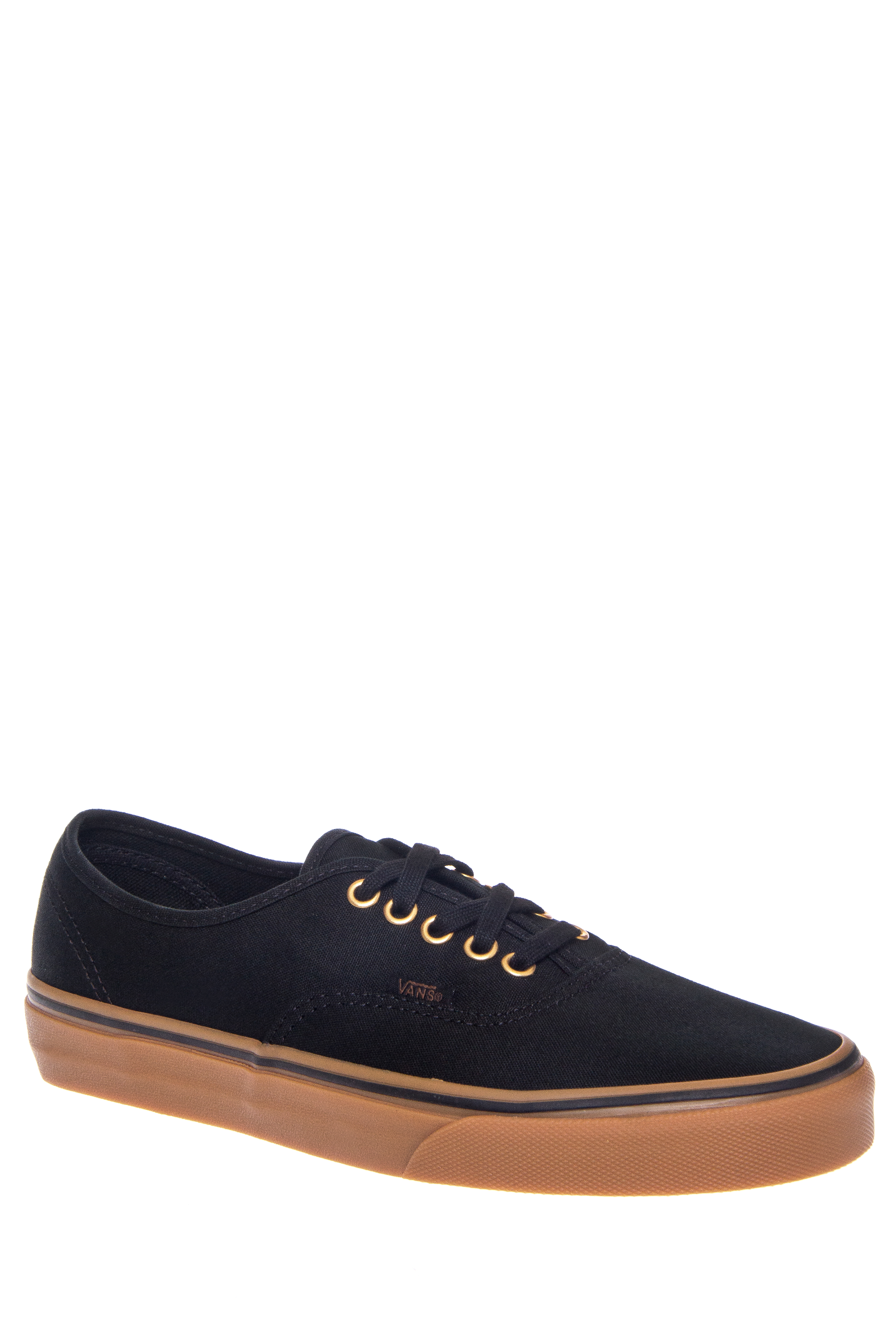 Vans Unisex Authentic Low Top Sneakers - Black / Tan
