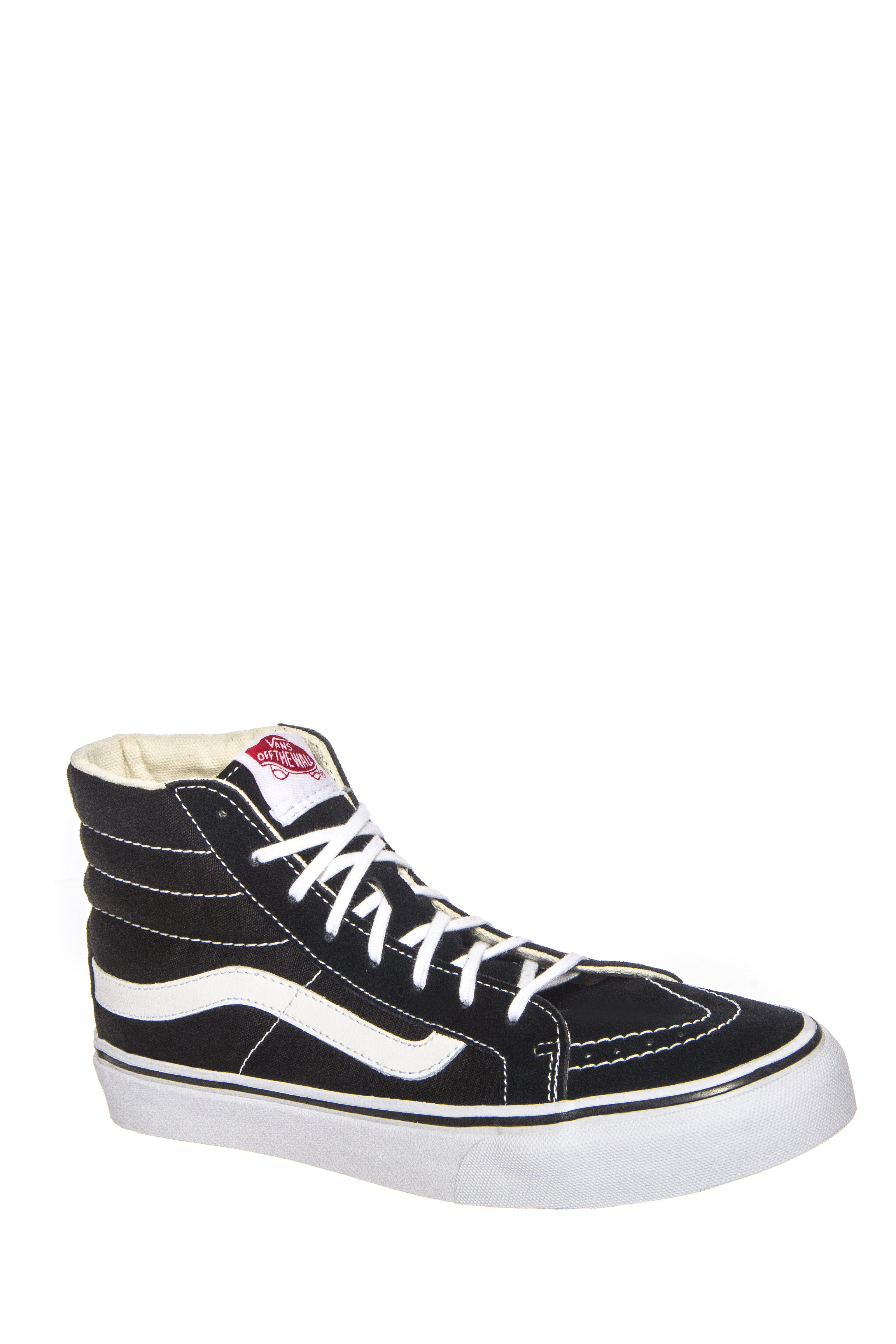 Vans Sk8-Hi Slim High Top Sneakers - Black / White