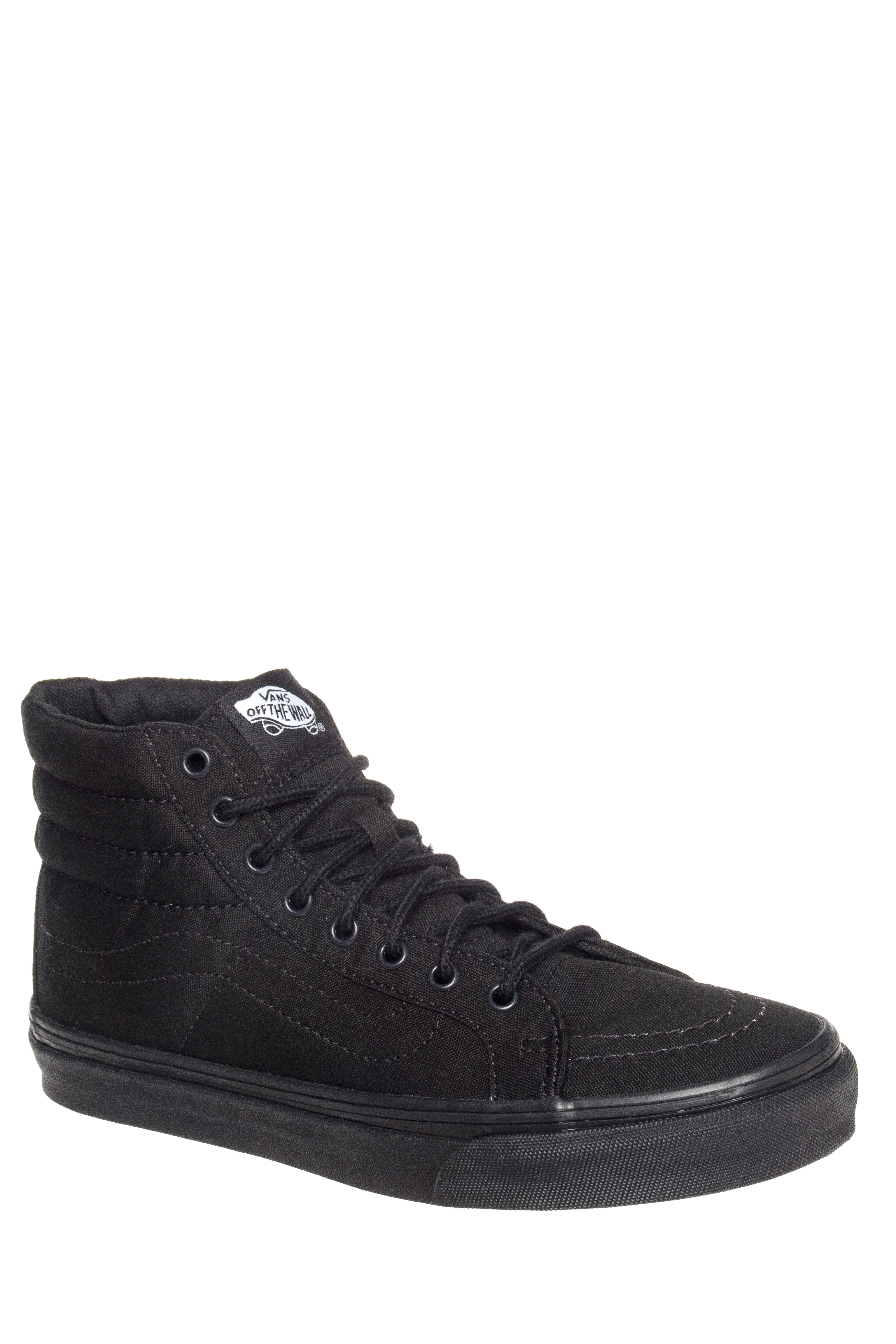 Vans W-Unisex Sk8-Hi Slim High Top Sneakers - Black / Black