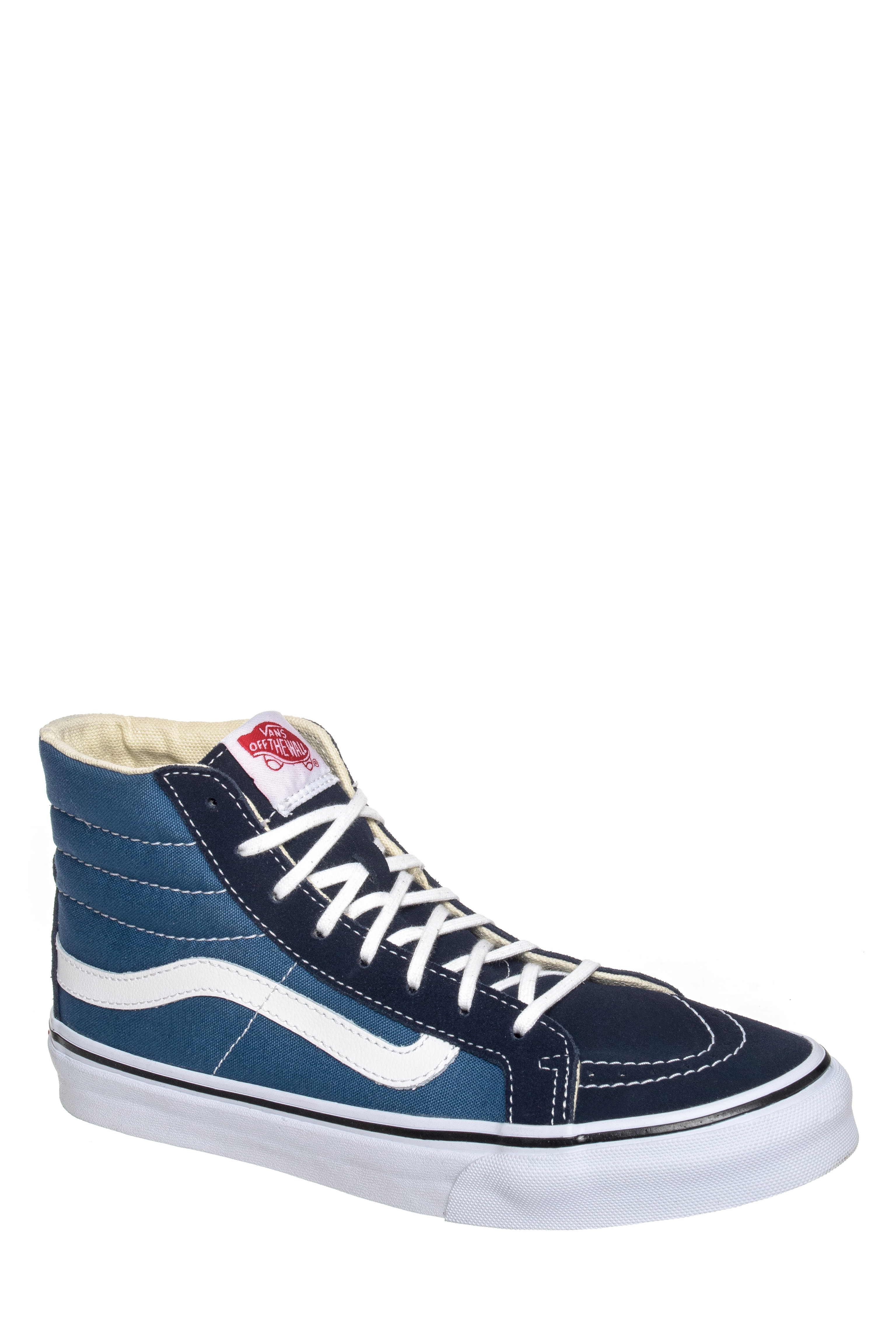 Vans Sk8-Hi Slim High Top Sneakers - Navy / True White