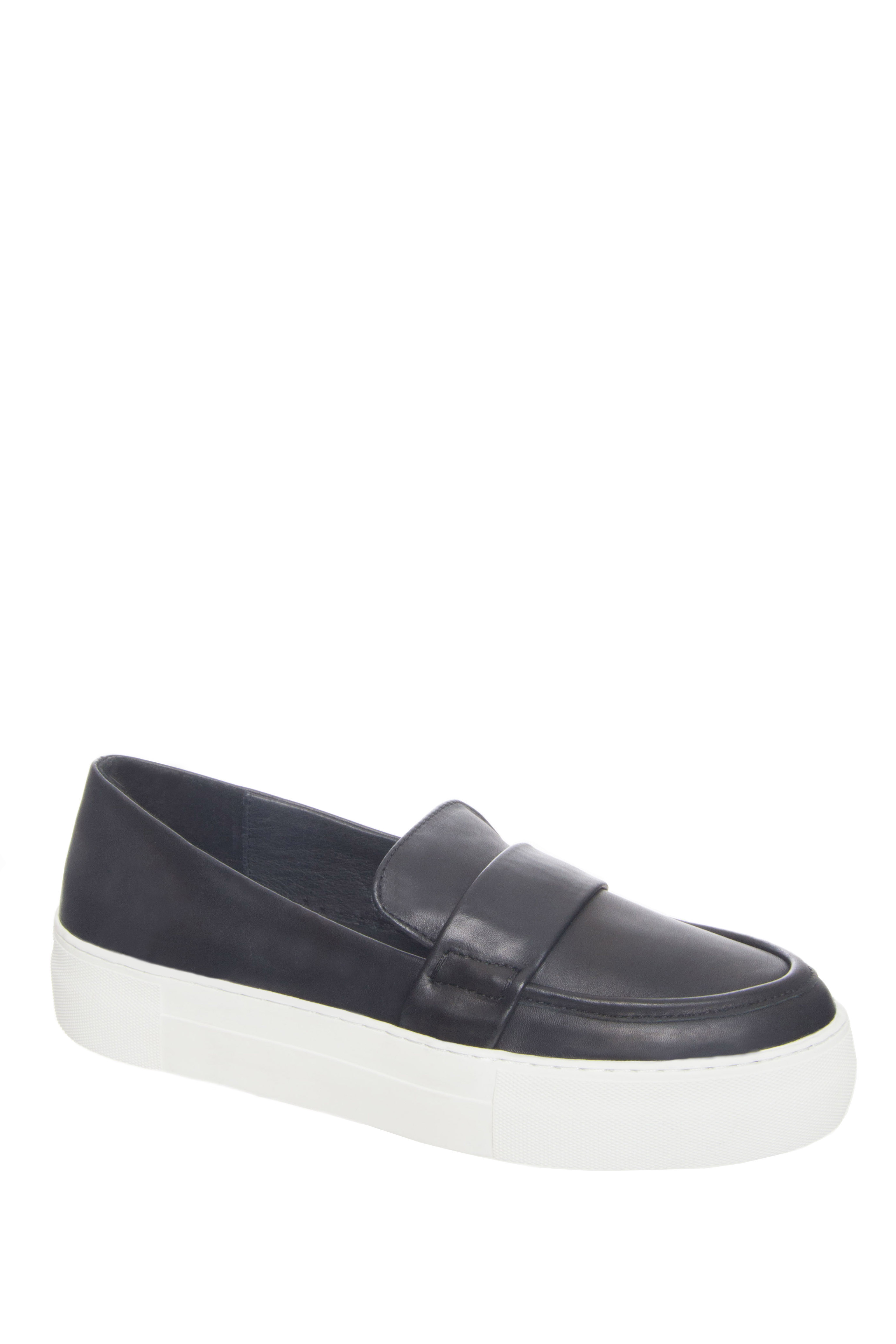 J Slides Page Platform Slip On Sneakers - Black