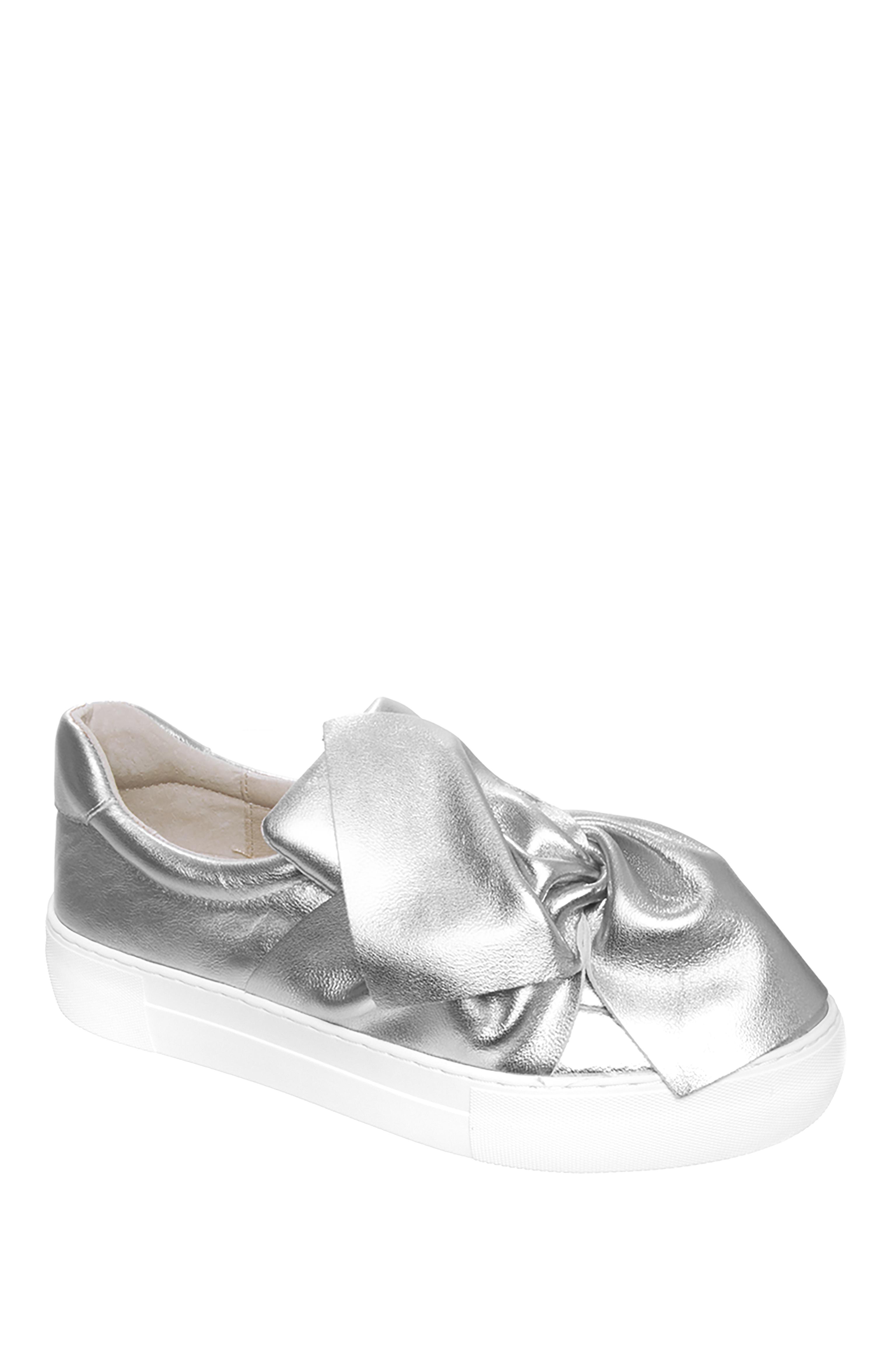 J/Slides Annabelle Platform Sneakers - Silver
