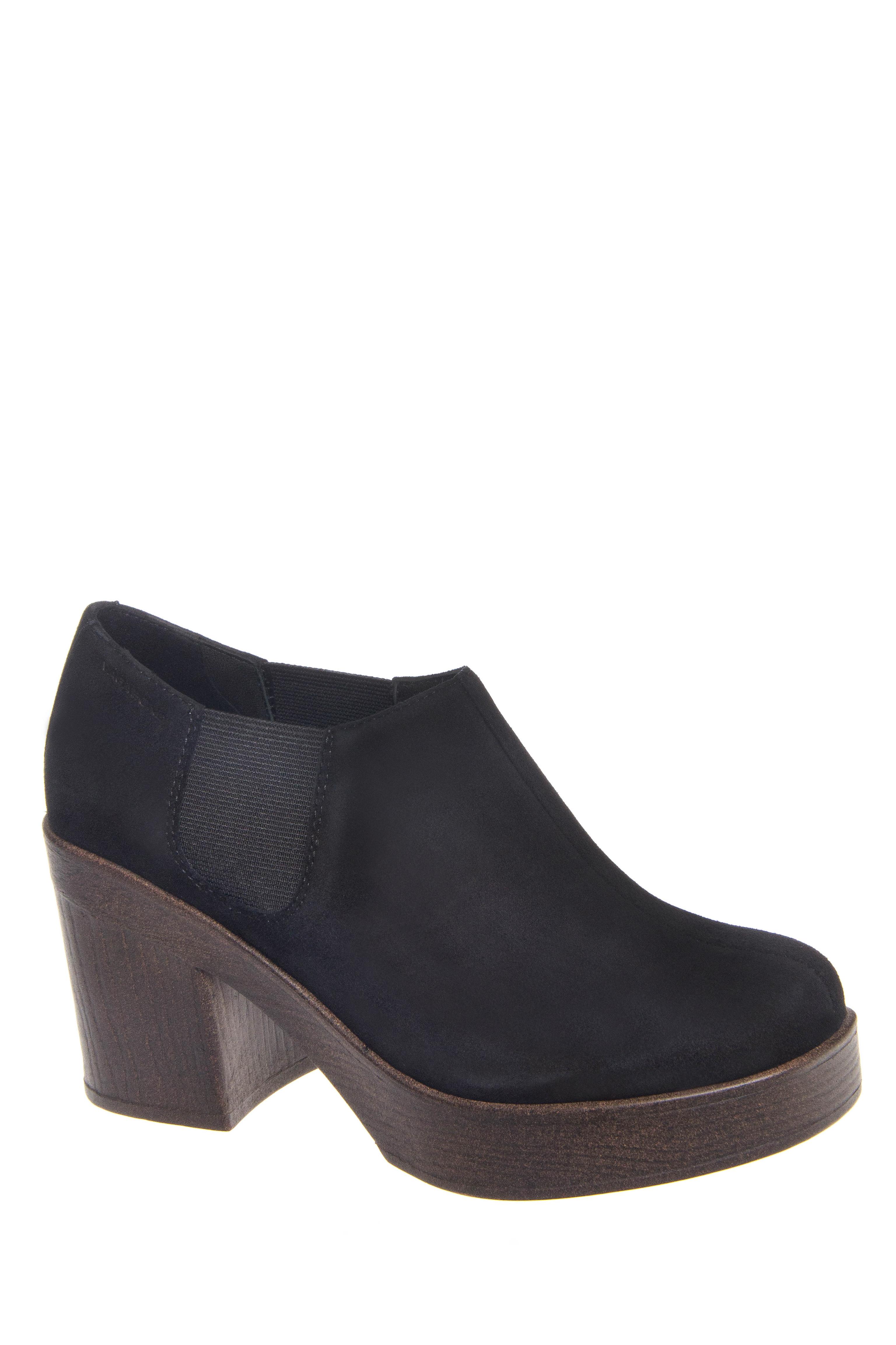 Vagabond Marva Mid Heel Platform Booties - Black