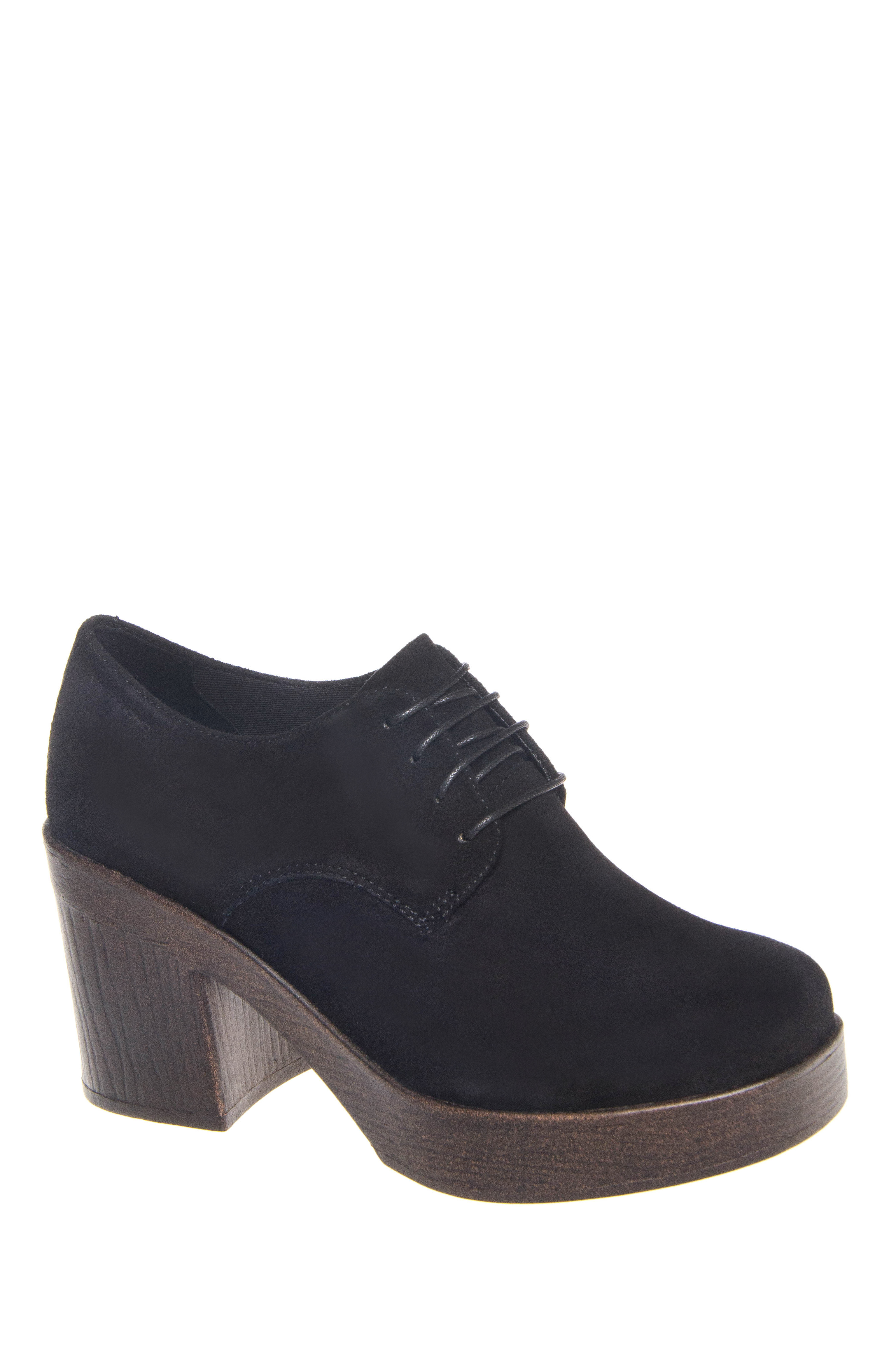Vagabond Marva Lace Up Mid Heel Platform Booties - Black