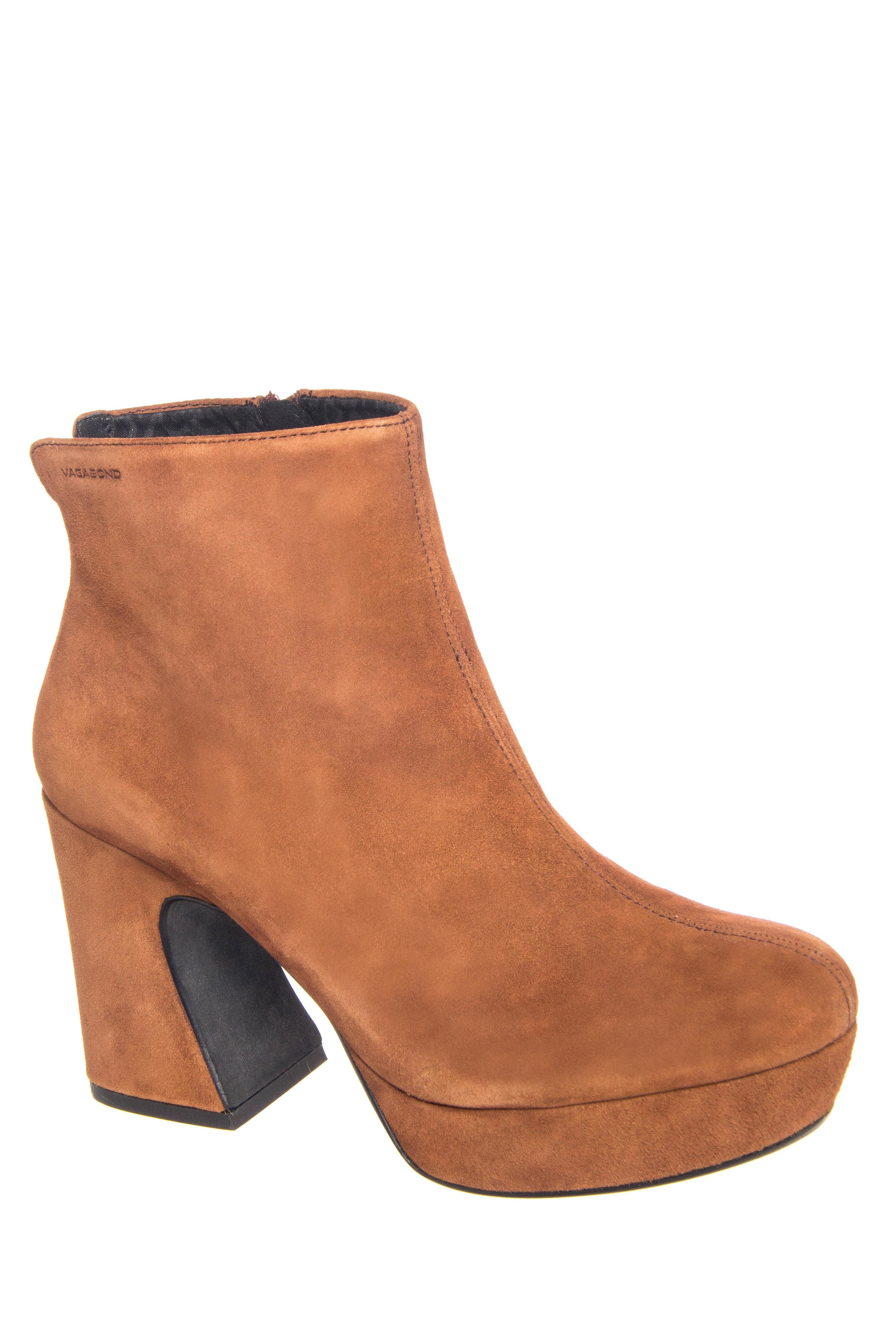 Vagabond Tereza Mid Heel Platform Booties - Hazel