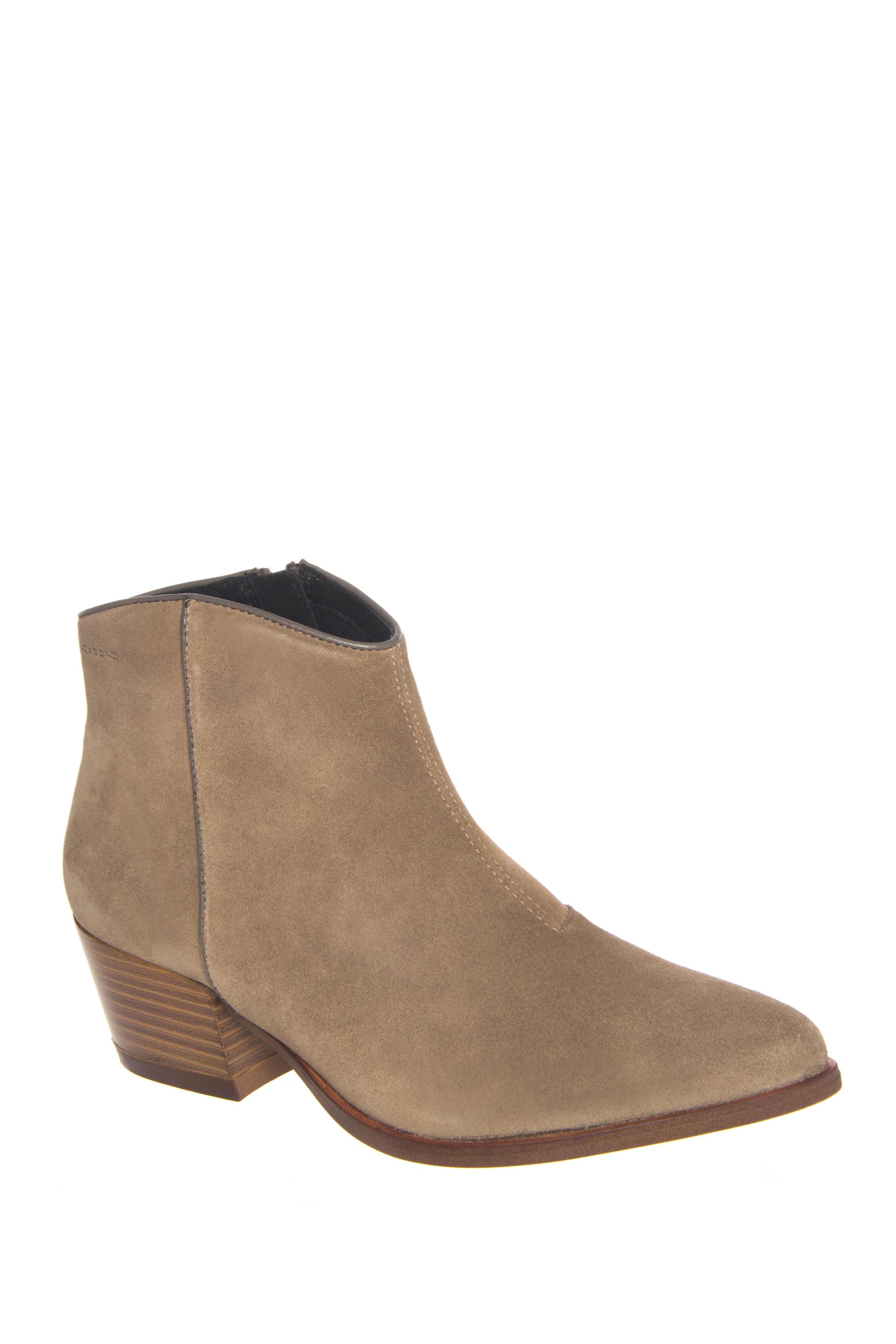 Vagabond Mandy Mid Heel Ankle Boots - Taupe