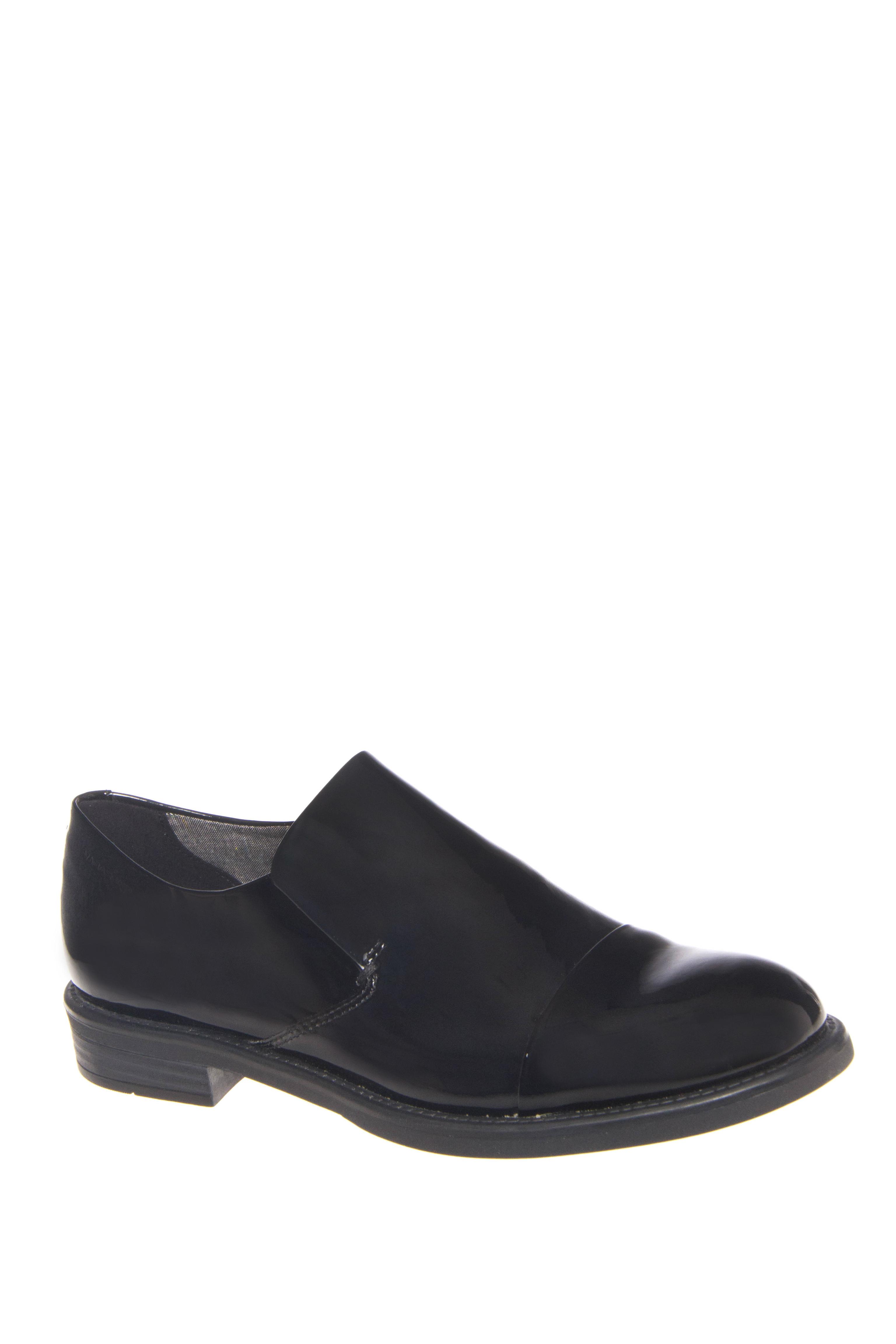 Vagabond Amina Low Heel Patent Loafers - Black
