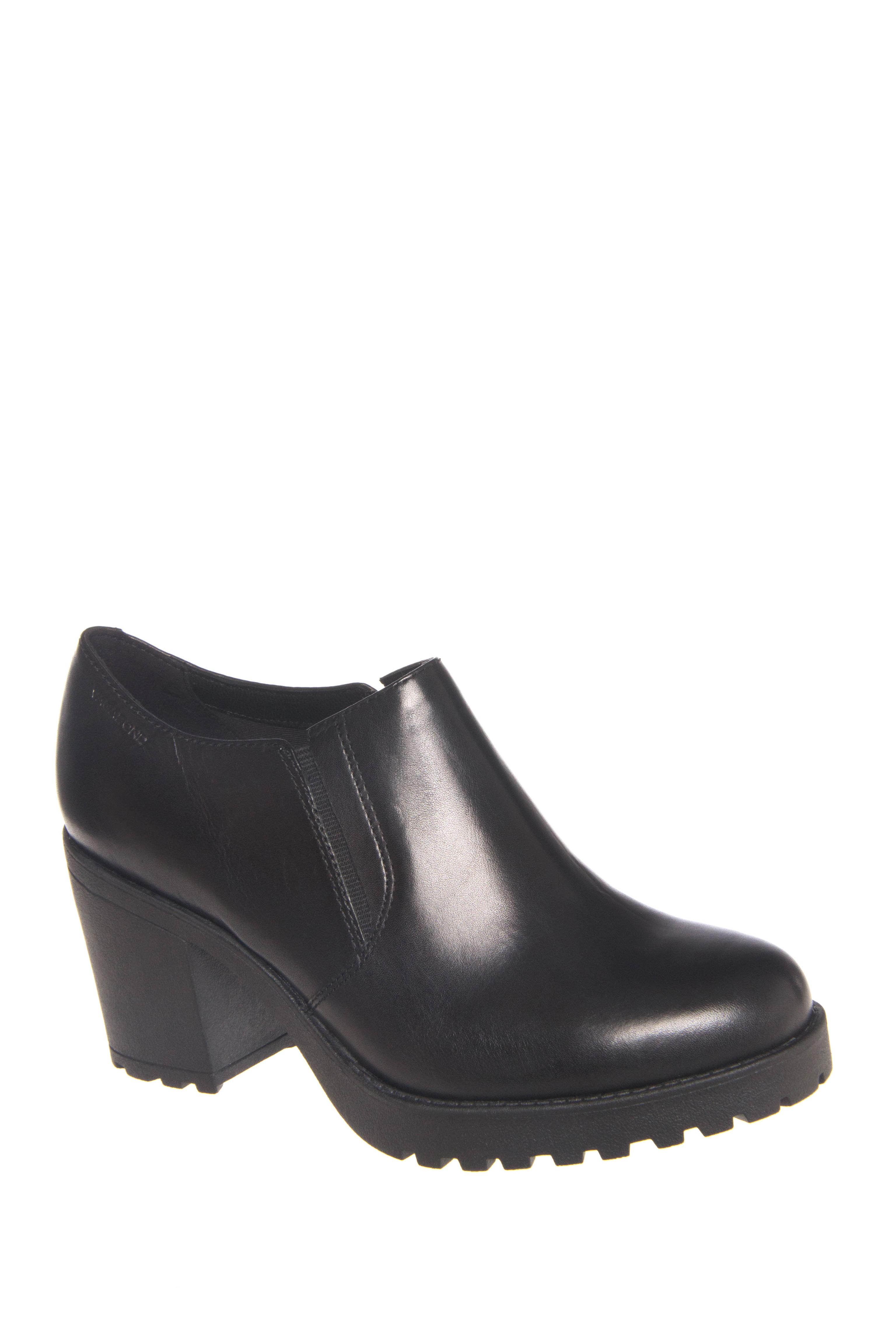 Vagabond Grace Mid Heel Low Rise Boots - Black
