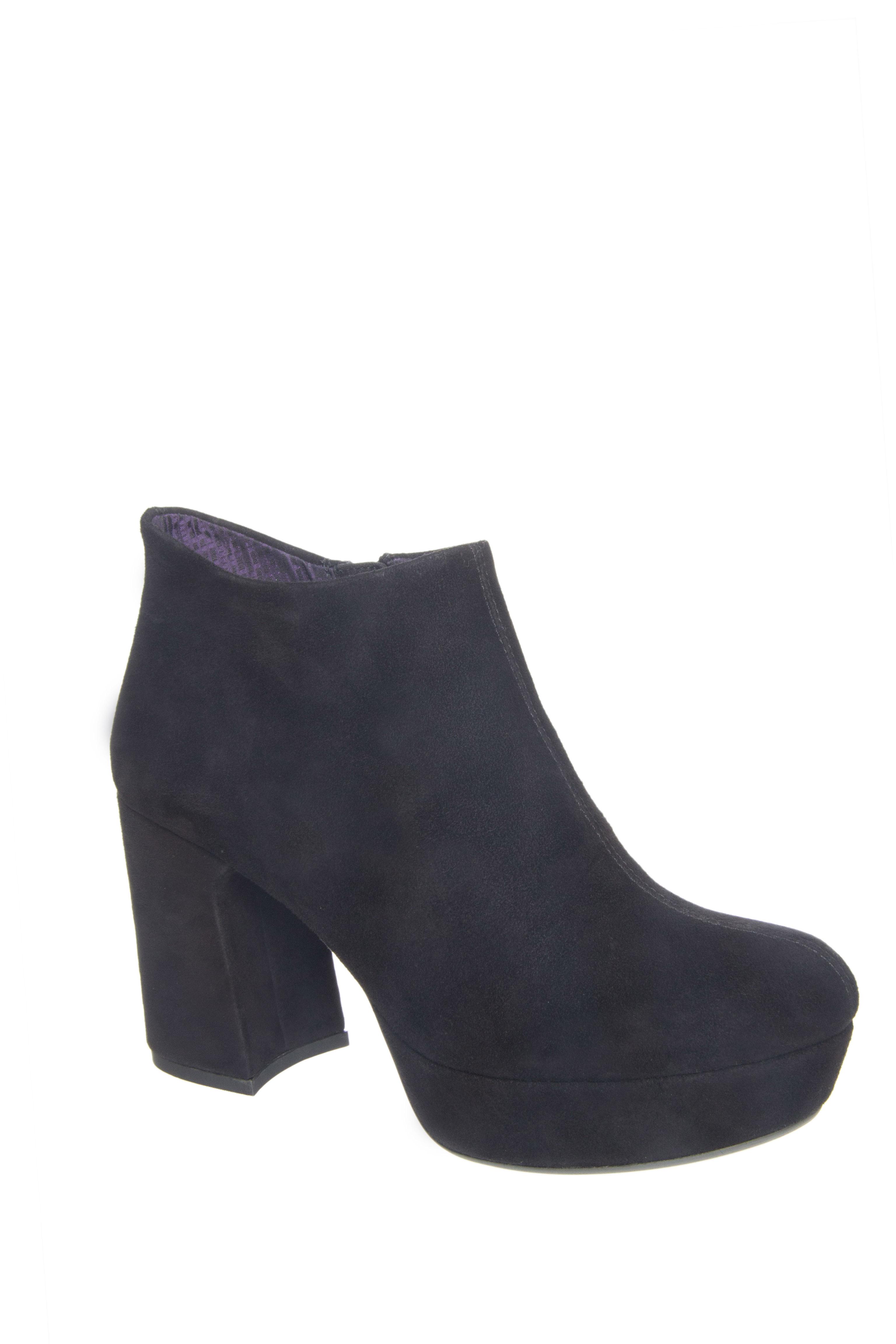 Vagabond Danila High Heel Zip Booties - Black Suede