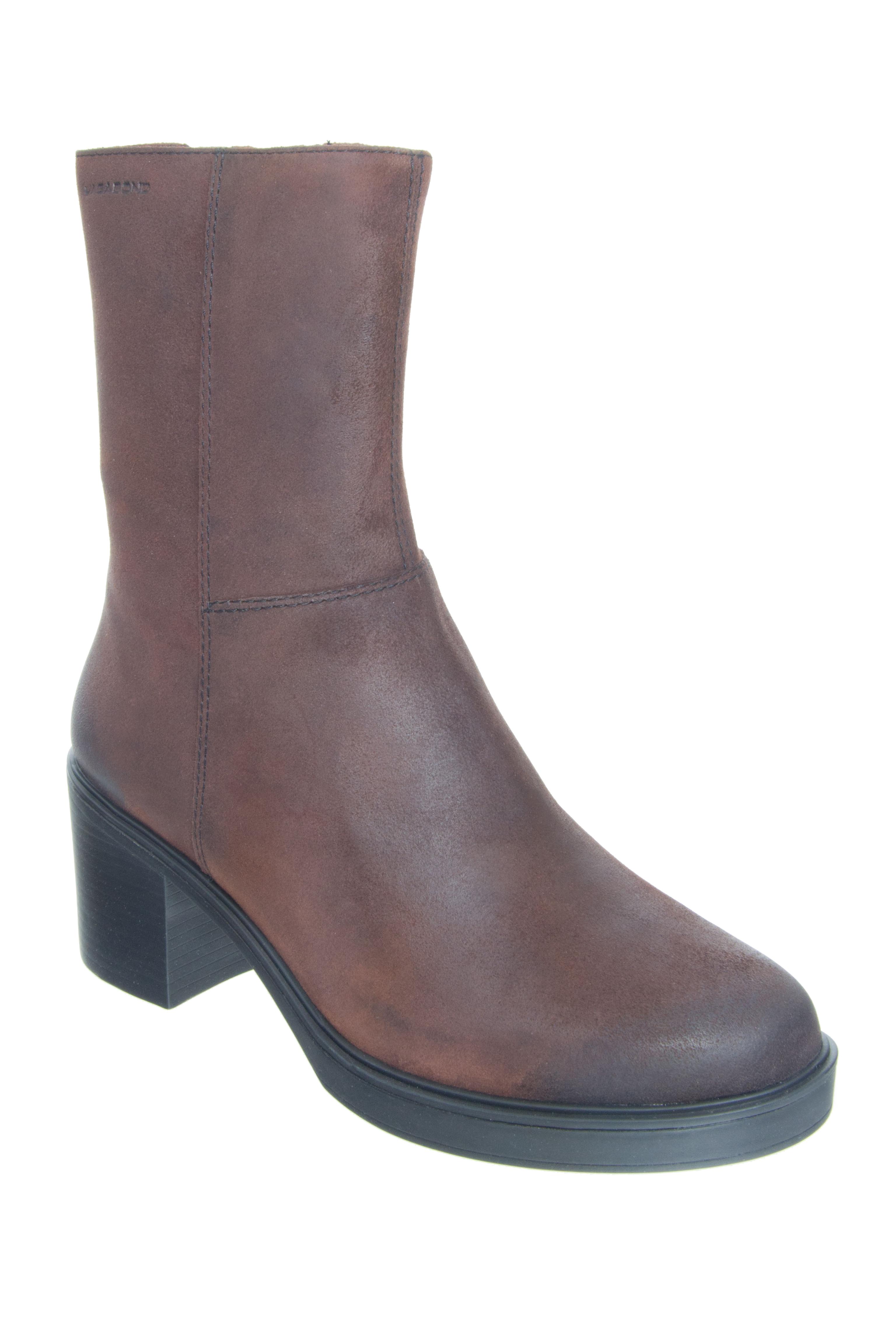 Vagabond Tilda Mid Heel Boots - Espresso