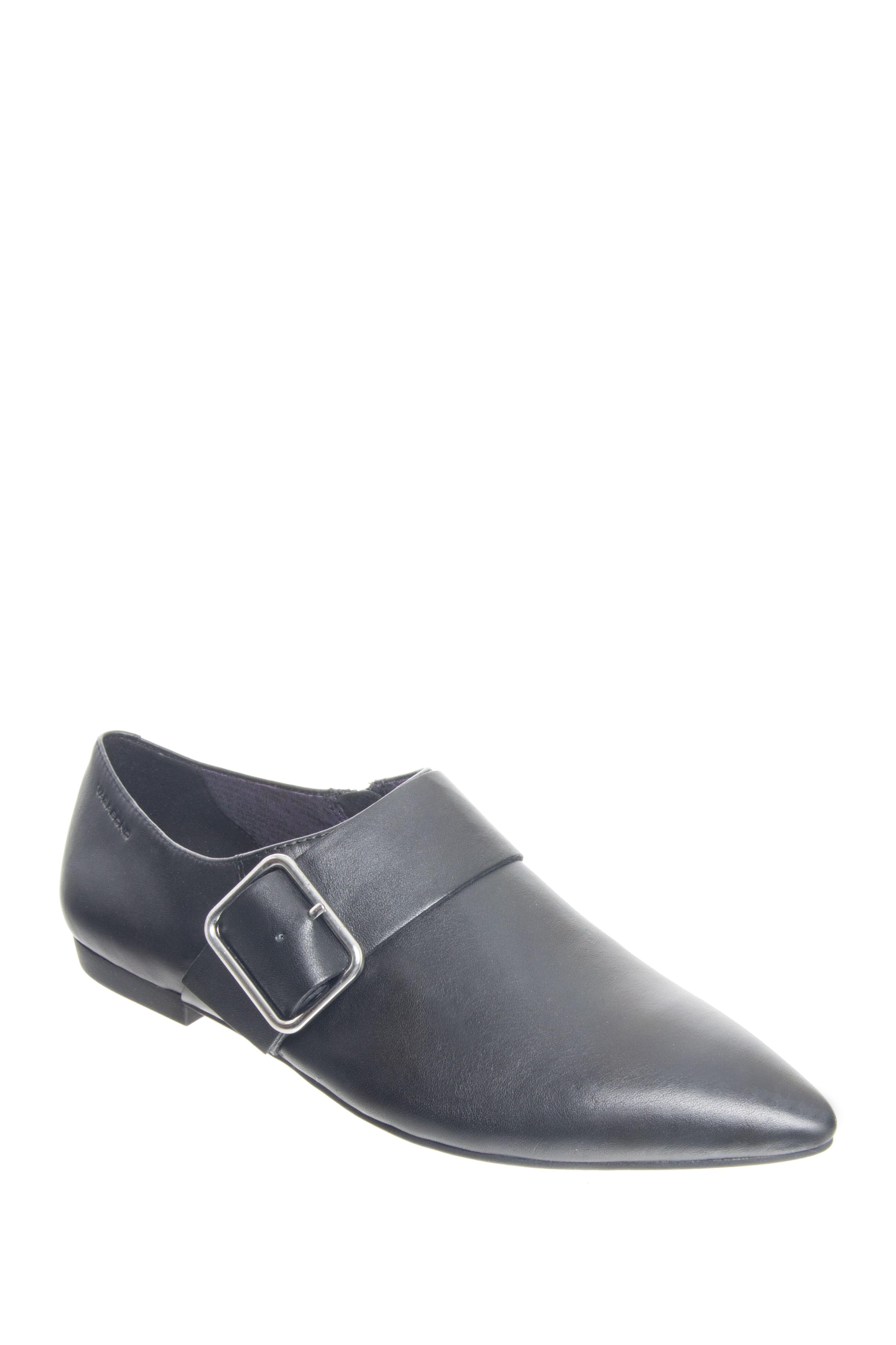 Vagabond Katlin Leather Buckle Ankle Booties - Black