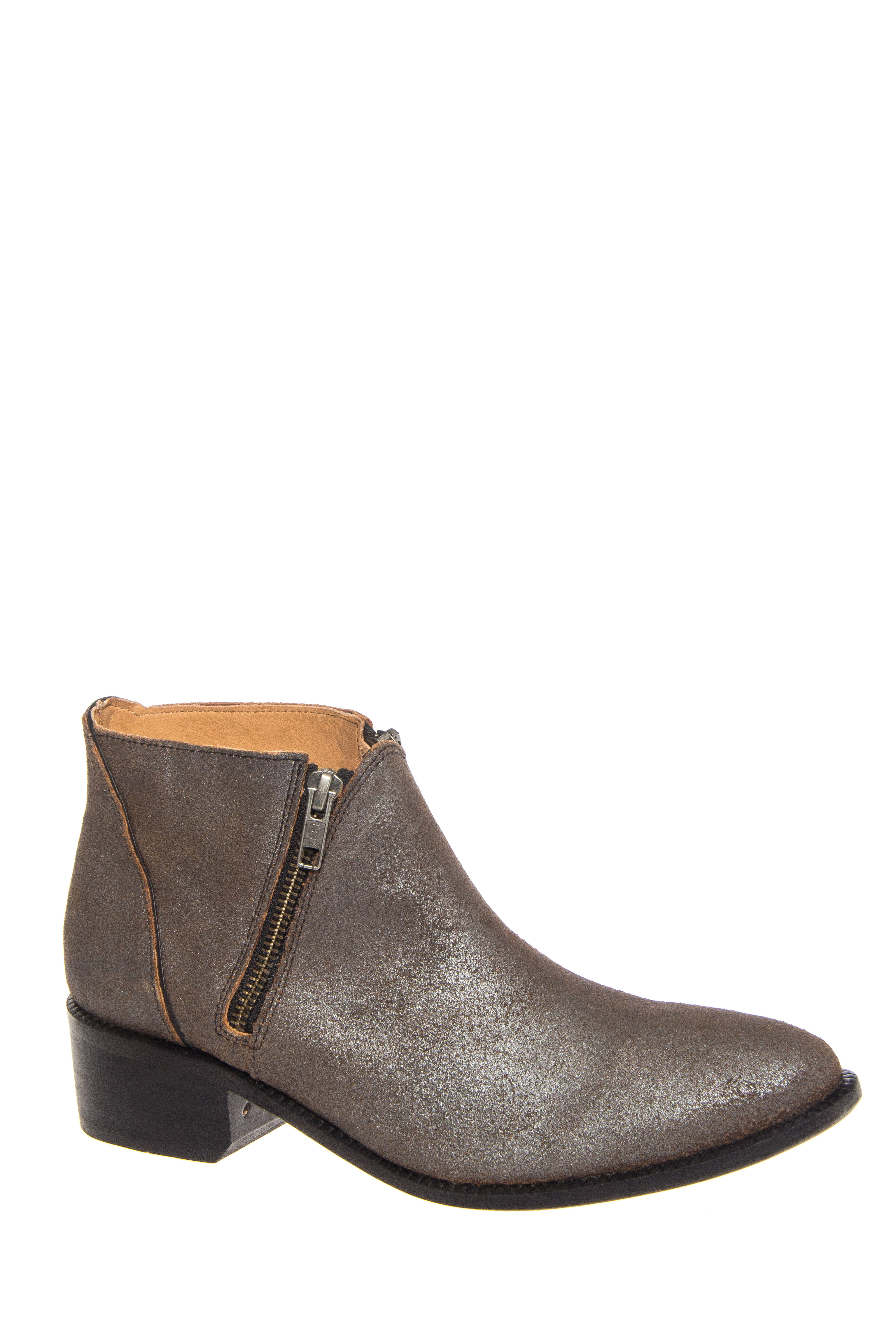 H by Hudson Jilt Mid Heel Ankle Rise Booties - Pewter