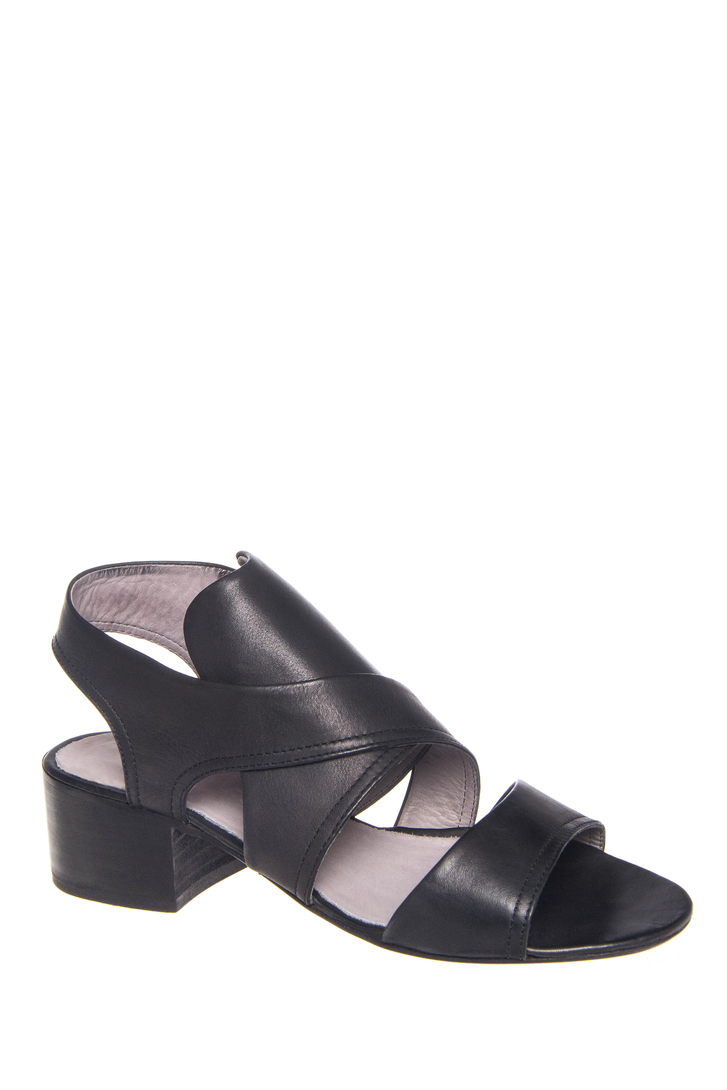 H By Hudson Ayasha Mid Heel Sandals - Black