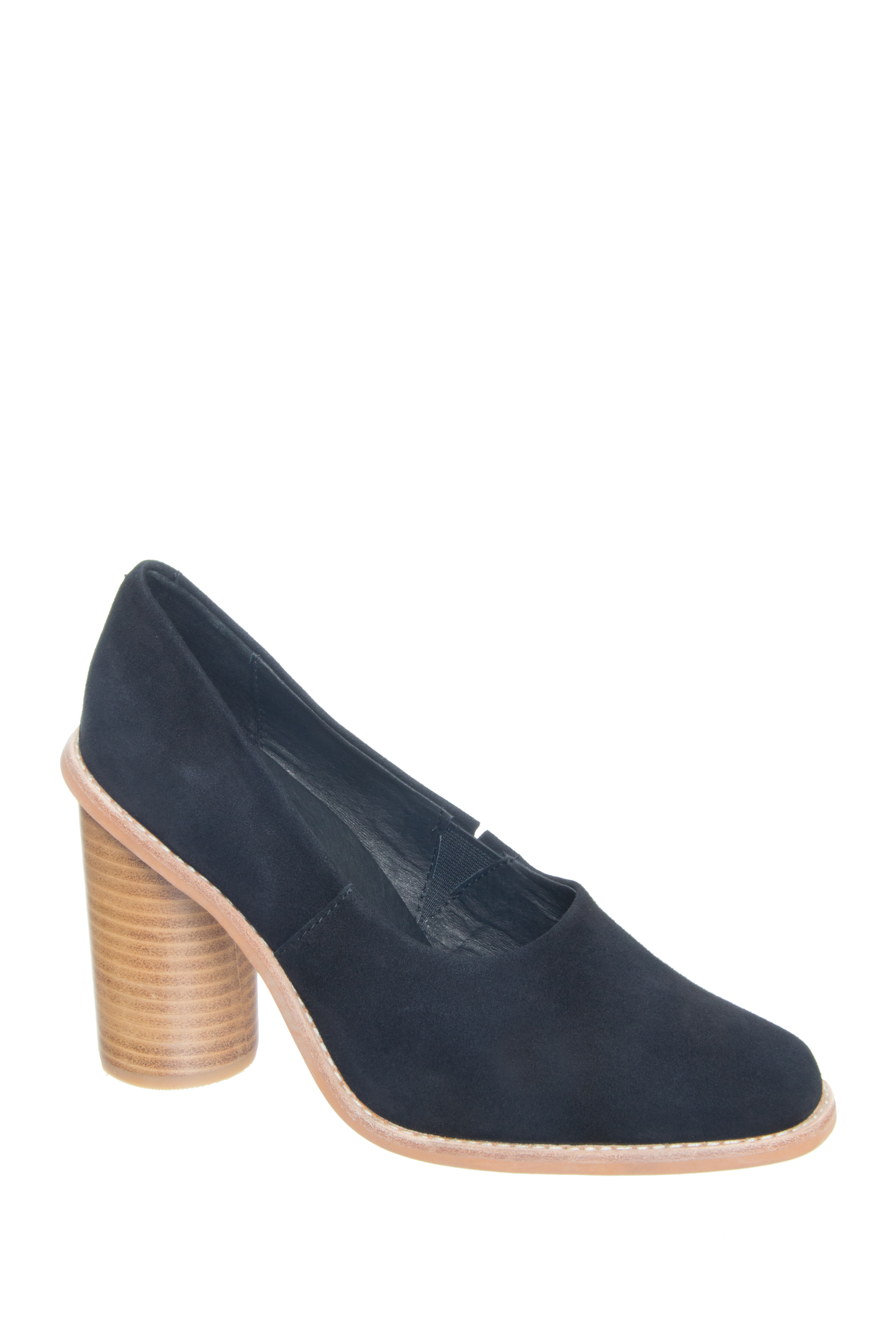 Sol Sana Kelly Heel Pumps - Black Suede