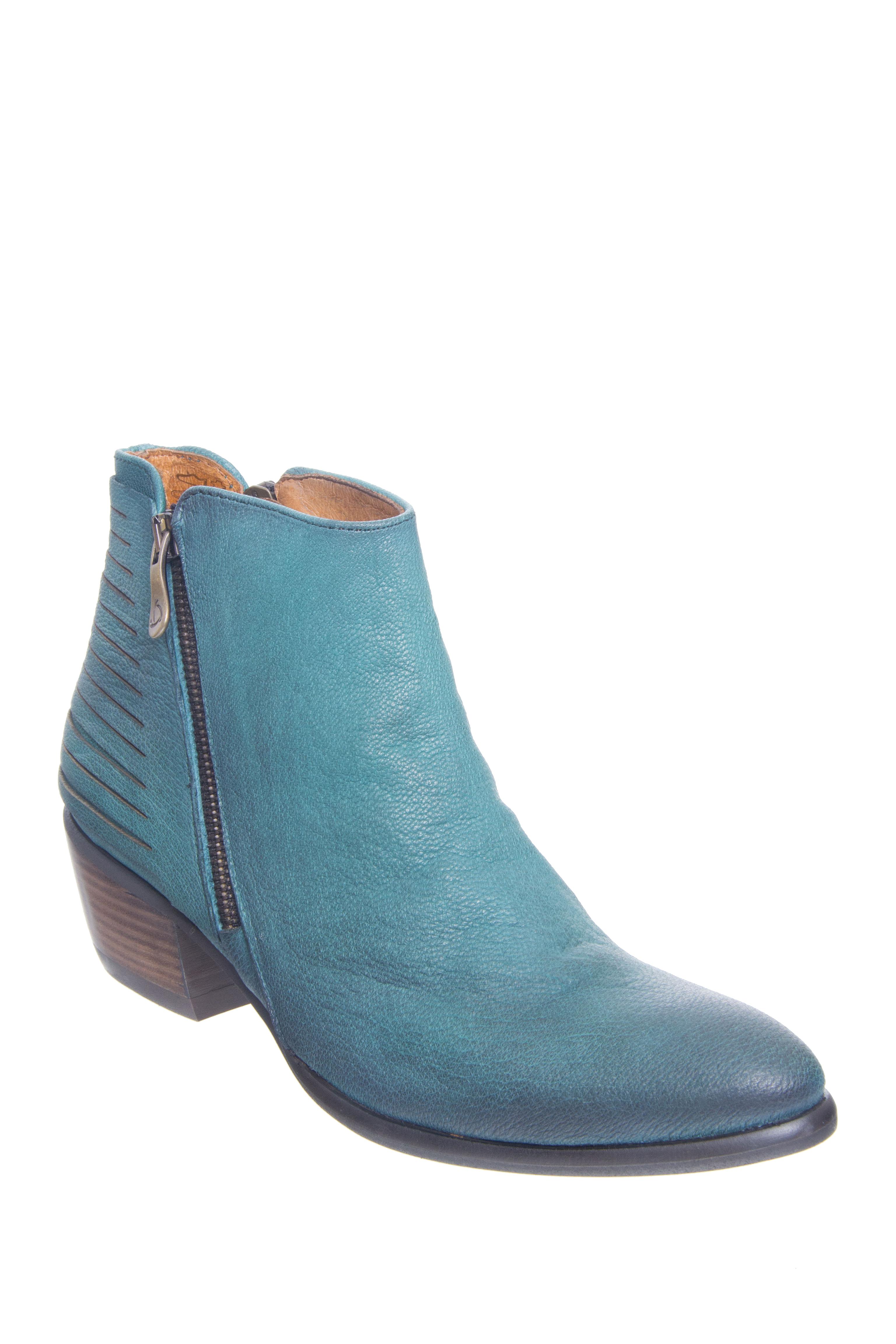 Kanna Oporto Low Heel Booties - Menta