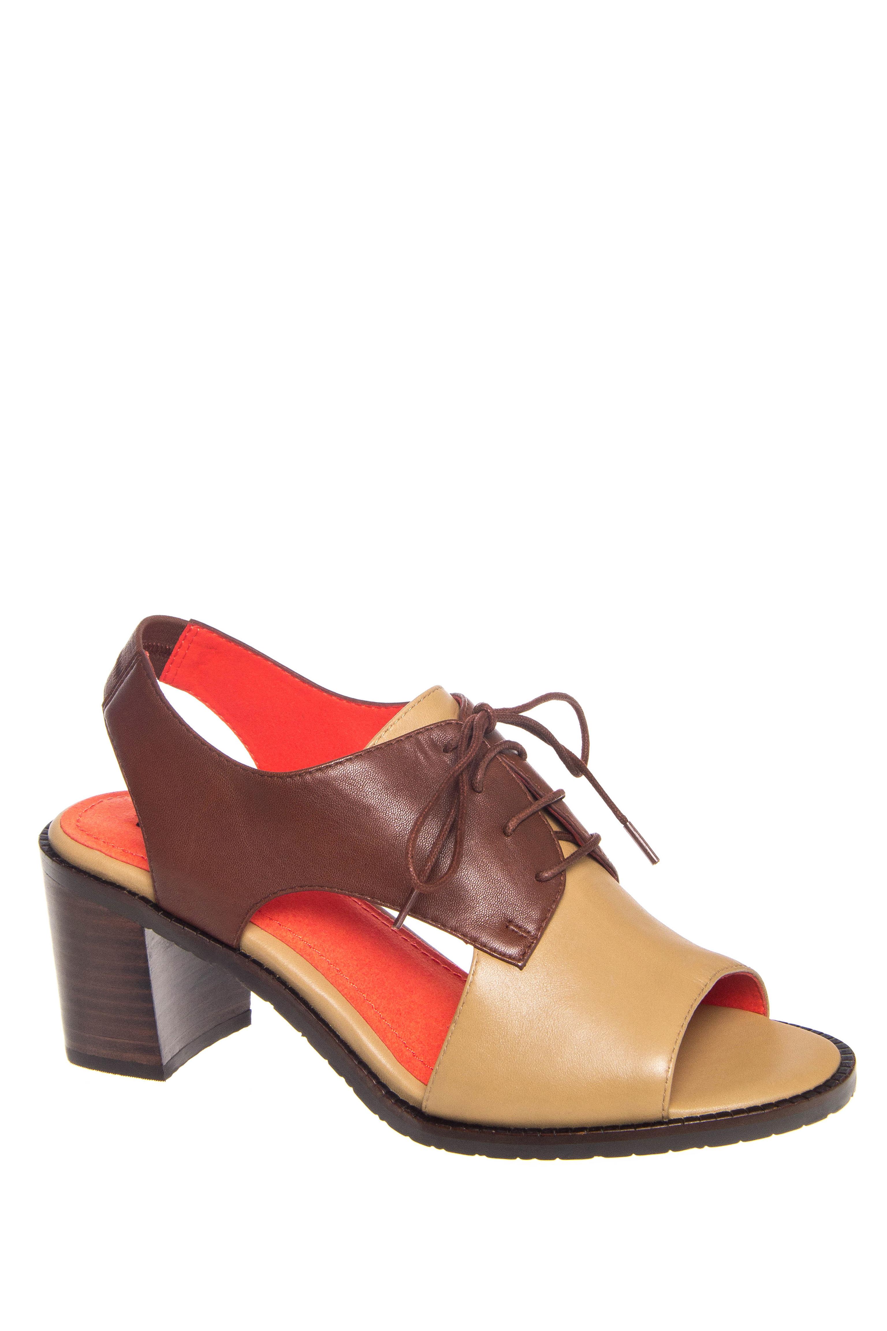 M. Maccari Cora Mid Heel Open Toe Sandals