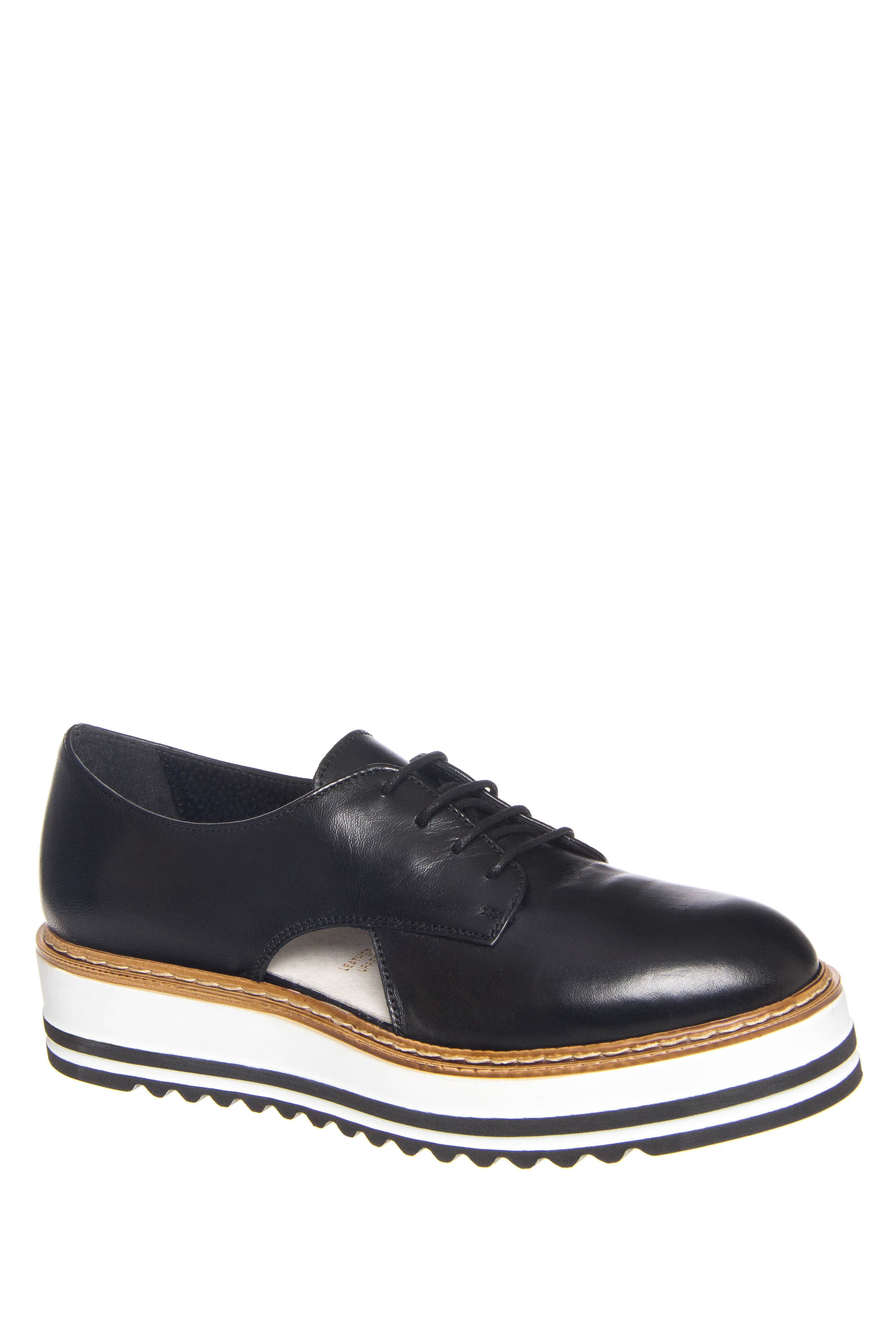 Summit by White Mountain Brody Double Stripe Platform Oxford - Black