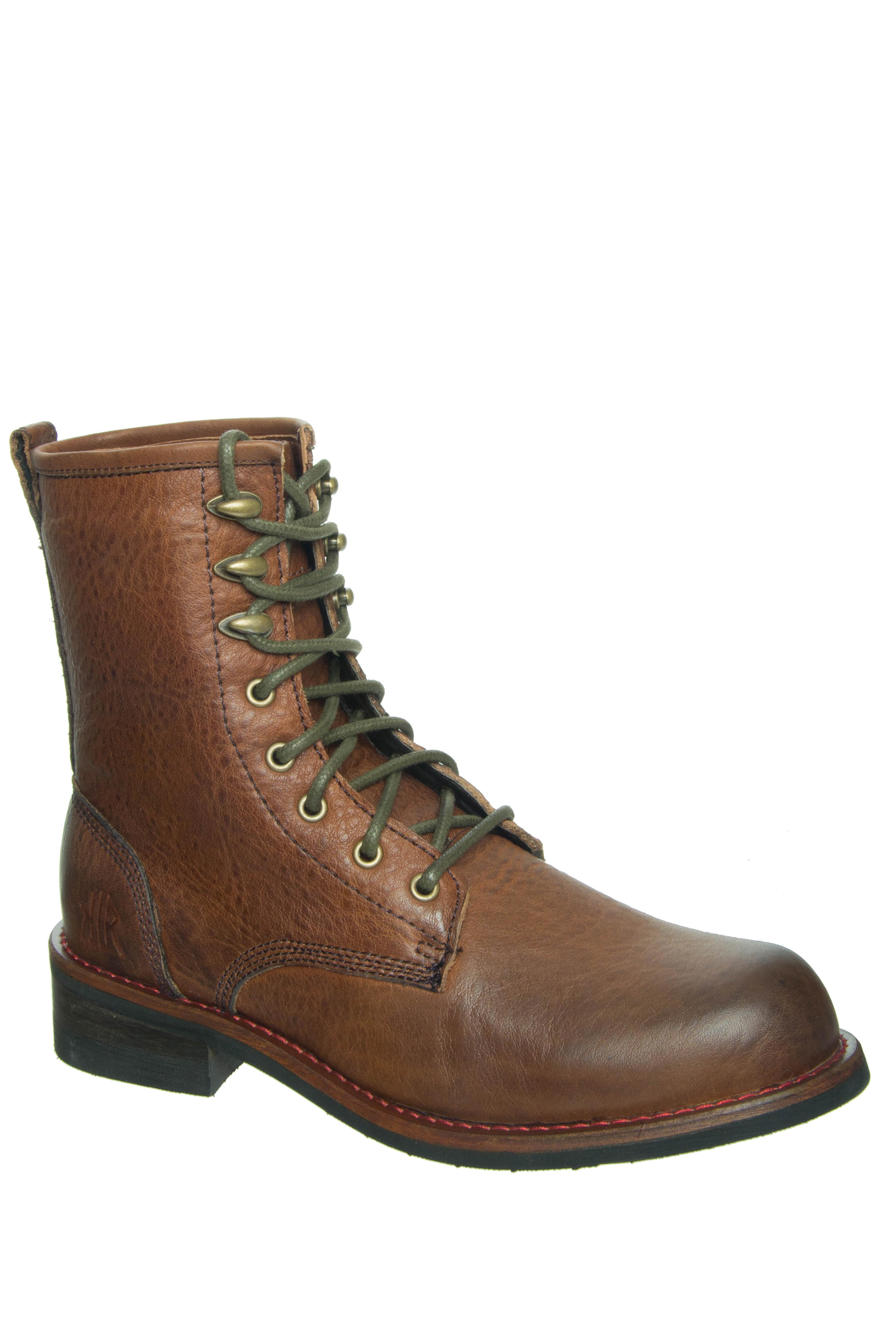 KLR Men's Pat Lace-Up Boots - Brown