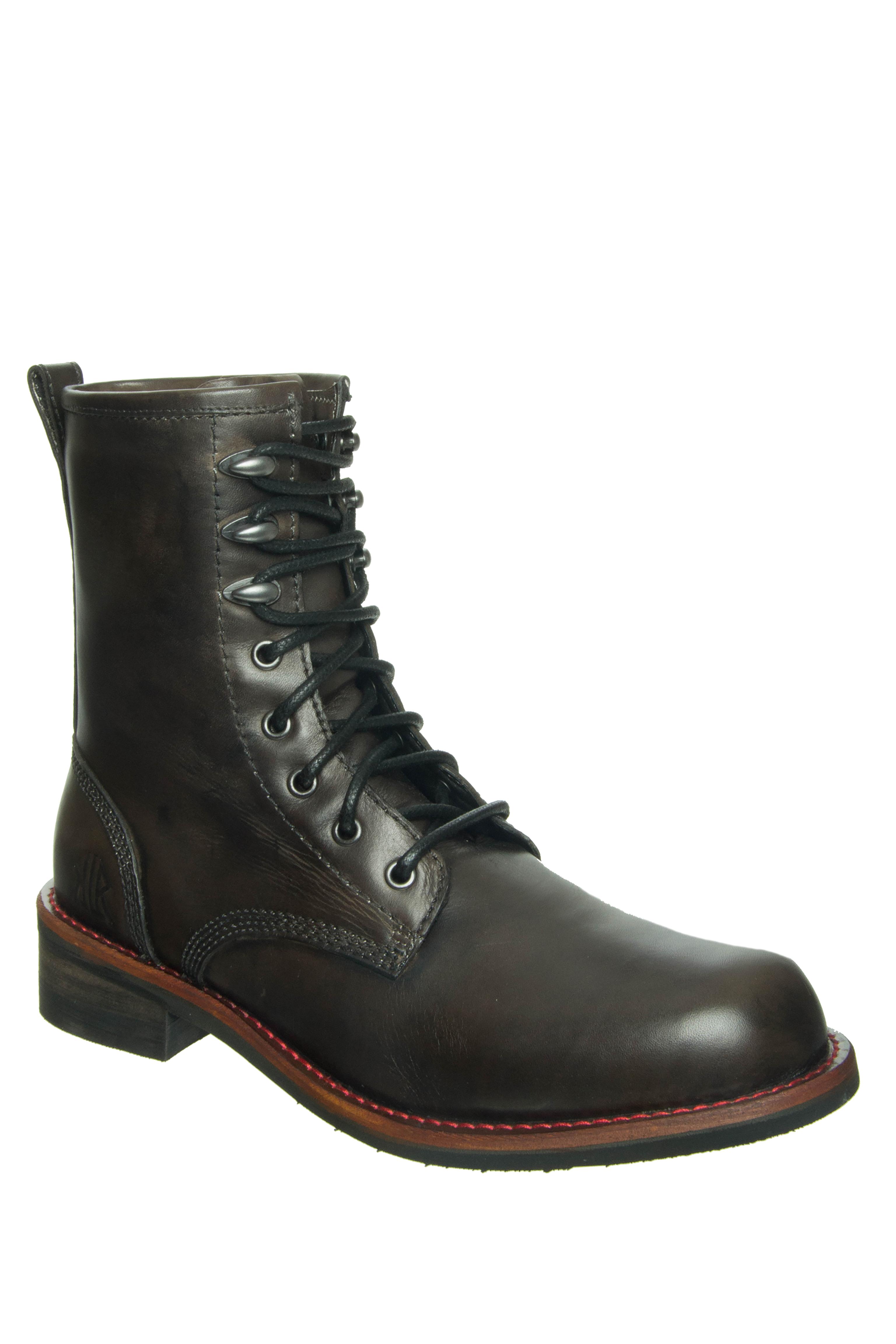 KLR Men's Pat Lace-Up Boots - Grey