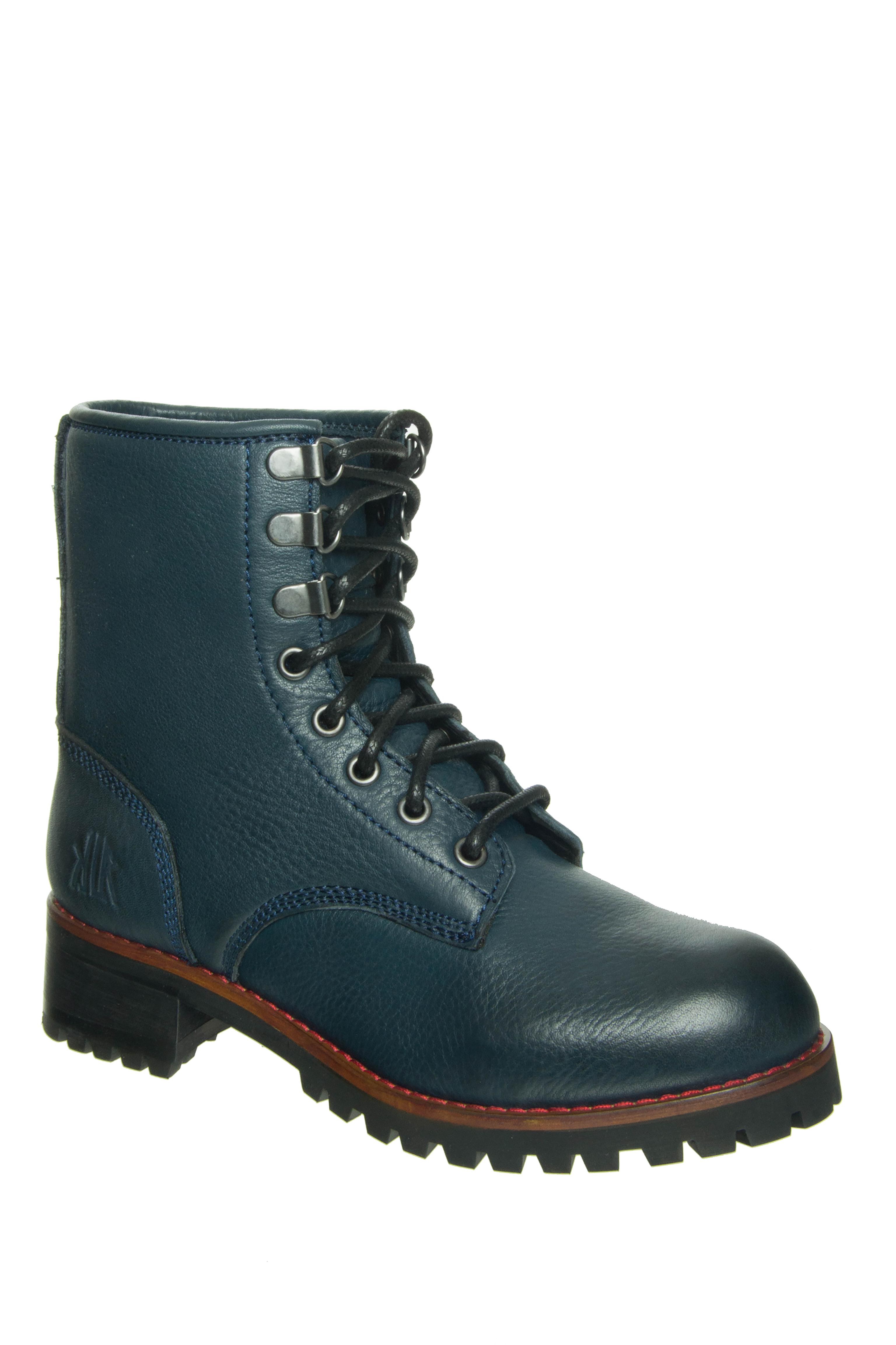 KLR Hails Low Heel Boots - Navy