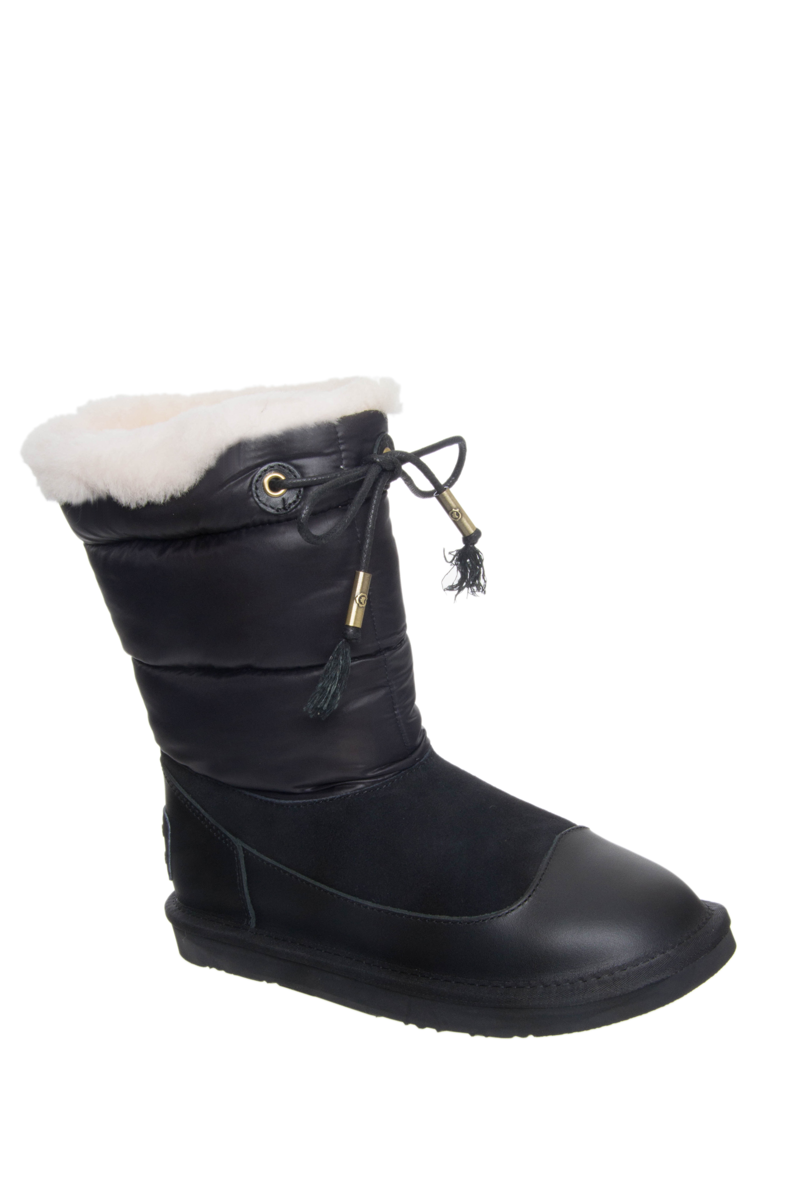 Australia Luxe Earth Nylon Short Boots - Black