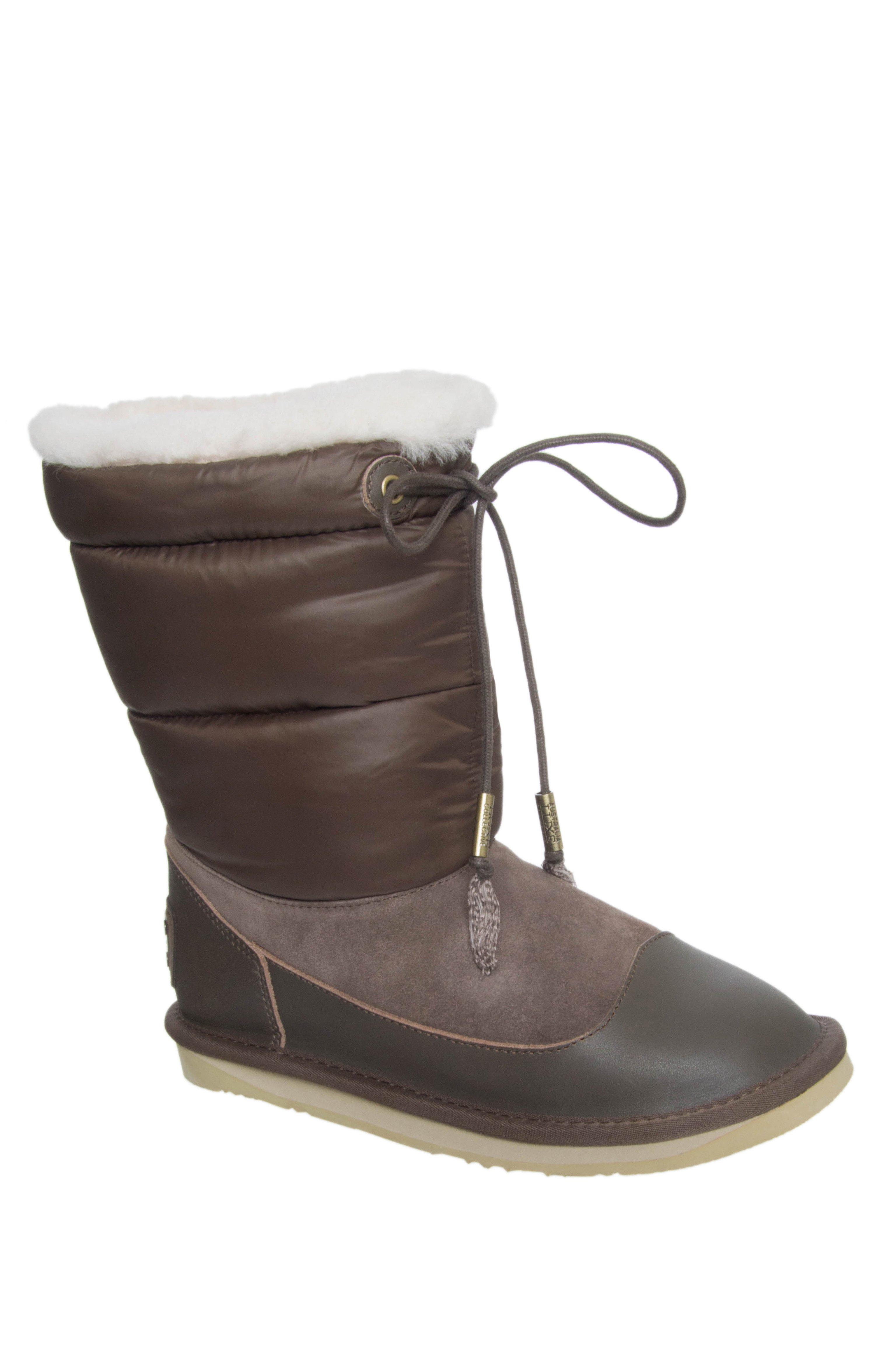 Australia Luxe Earth Nylon Short Boots - Mortar