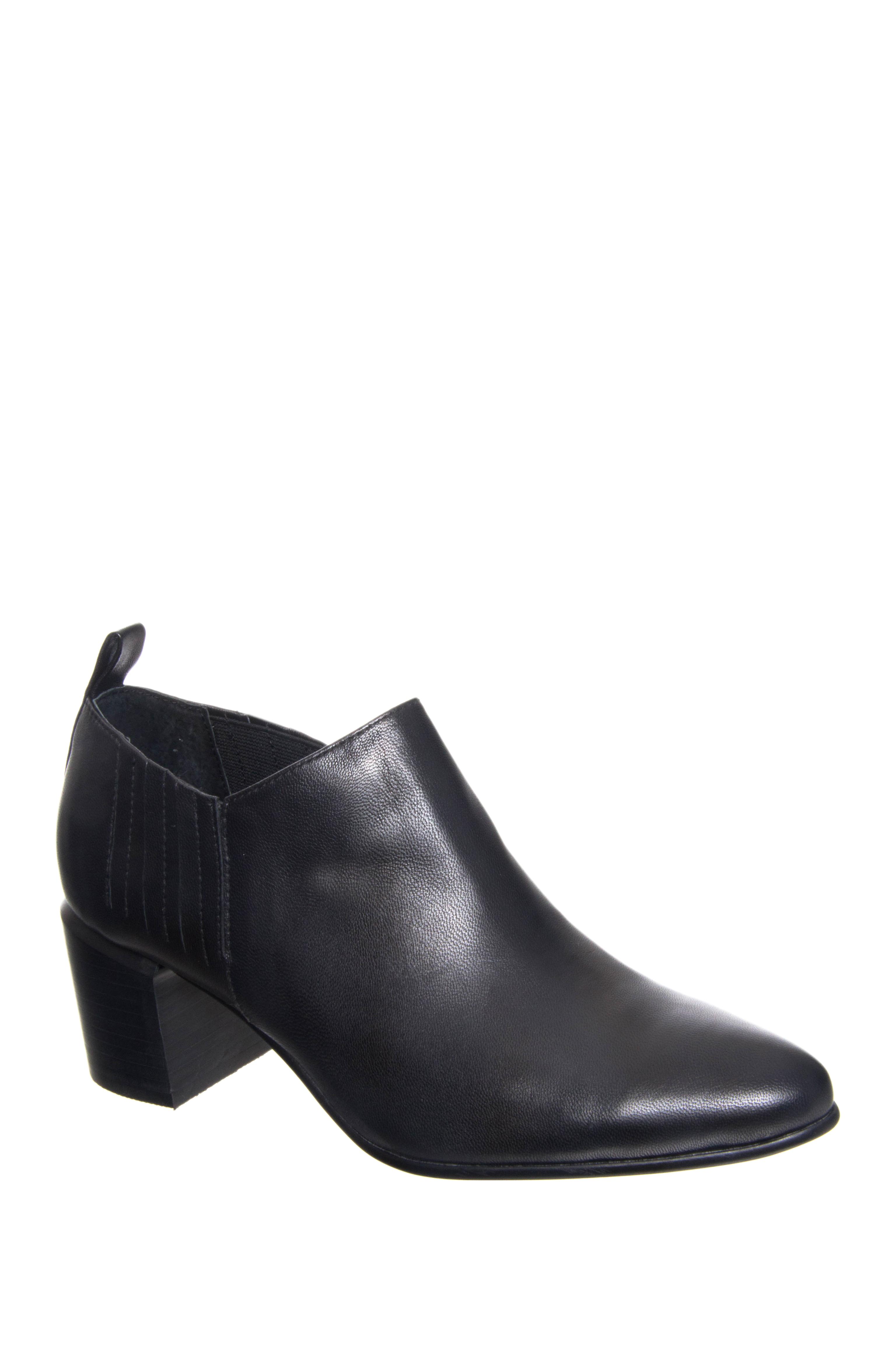 Silent D Heed Mid Heel Booties - Black