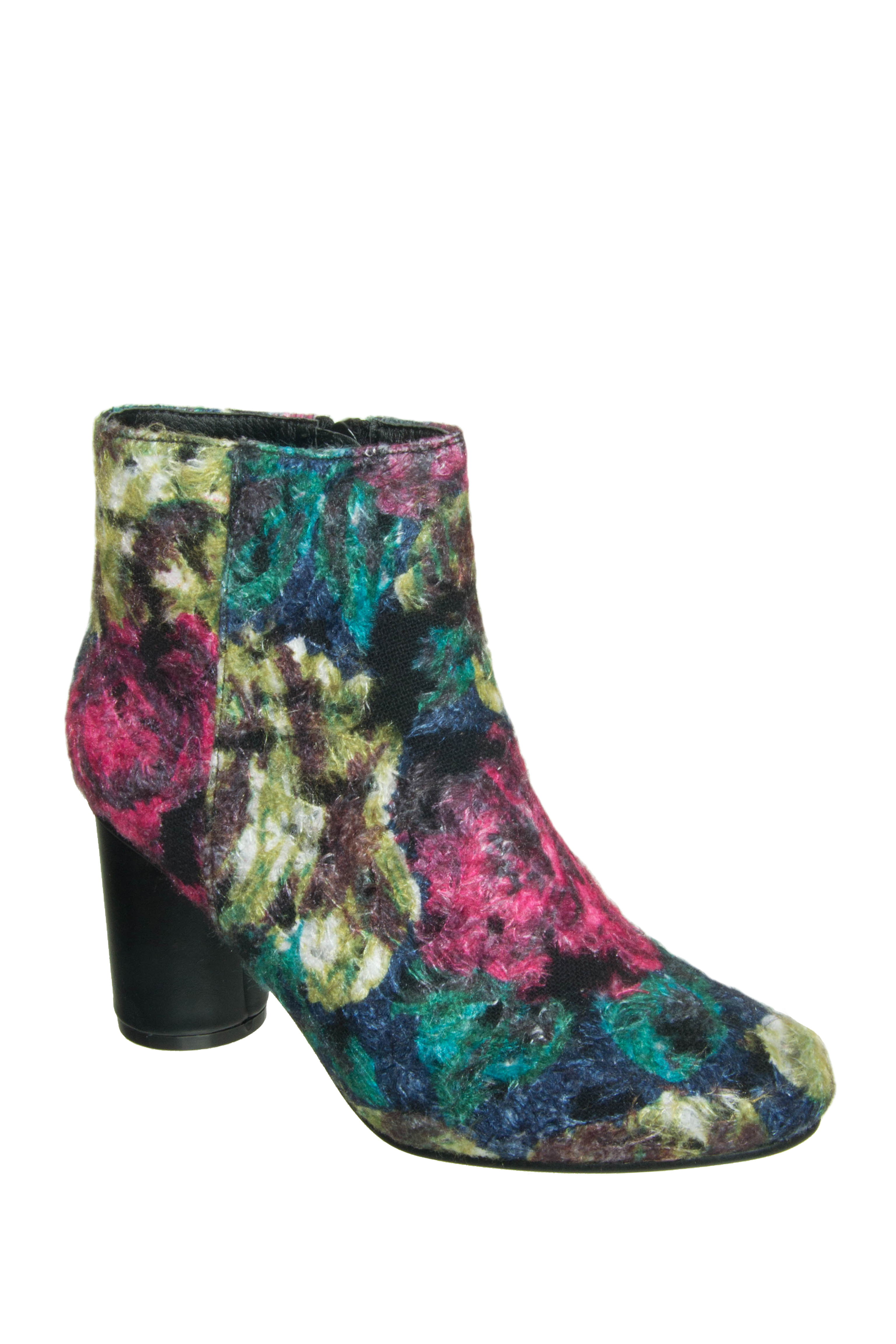 Vanessa Wu Floral Booties - Multicolored