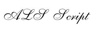 ALS Script Font Font