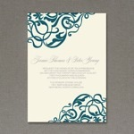 Scroll Wedding Invitation Template