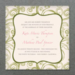 Square Garden Invitation Template