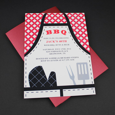 Invitation Template – BBQ Apron Invitation