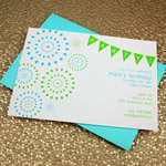 Fireworks & Bunting Invitation Template