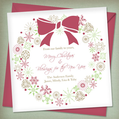 Christmas Invitation Templates with Wreath | Download & Print