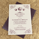 Vintage Bridal Shower Tea Party Invitation Template