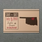 Oklahoma Save-the-Date Postcard Template