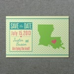 Louisiana save-the-Date Template