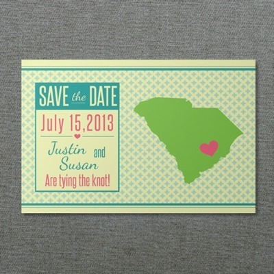South Carolina save-the-Date Template
