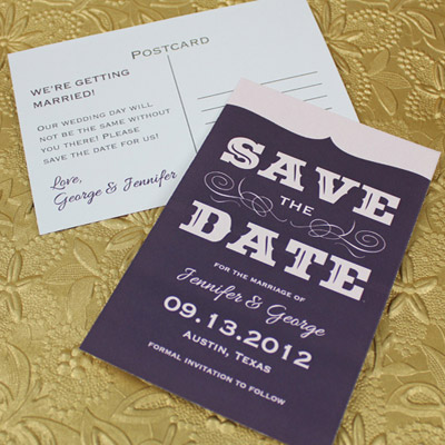 Printable Save-the-Date Template with Retro Type