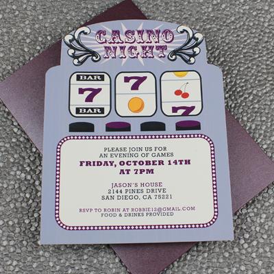 Slot Machine Casino Night Invitation Template | Download ...