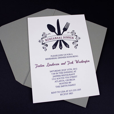 Invitation Template – Casual Rehearsal Dinner
