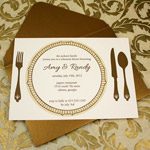 Golden Plate Invitation