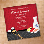 Sushi & Sake Invitation Template