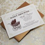 Vintage Buggy Baby Shower Invitation Template