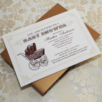 Vintage baby shower invitation templates filmwisefo