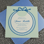 Baby Shower Invitation Template: Boys Bib